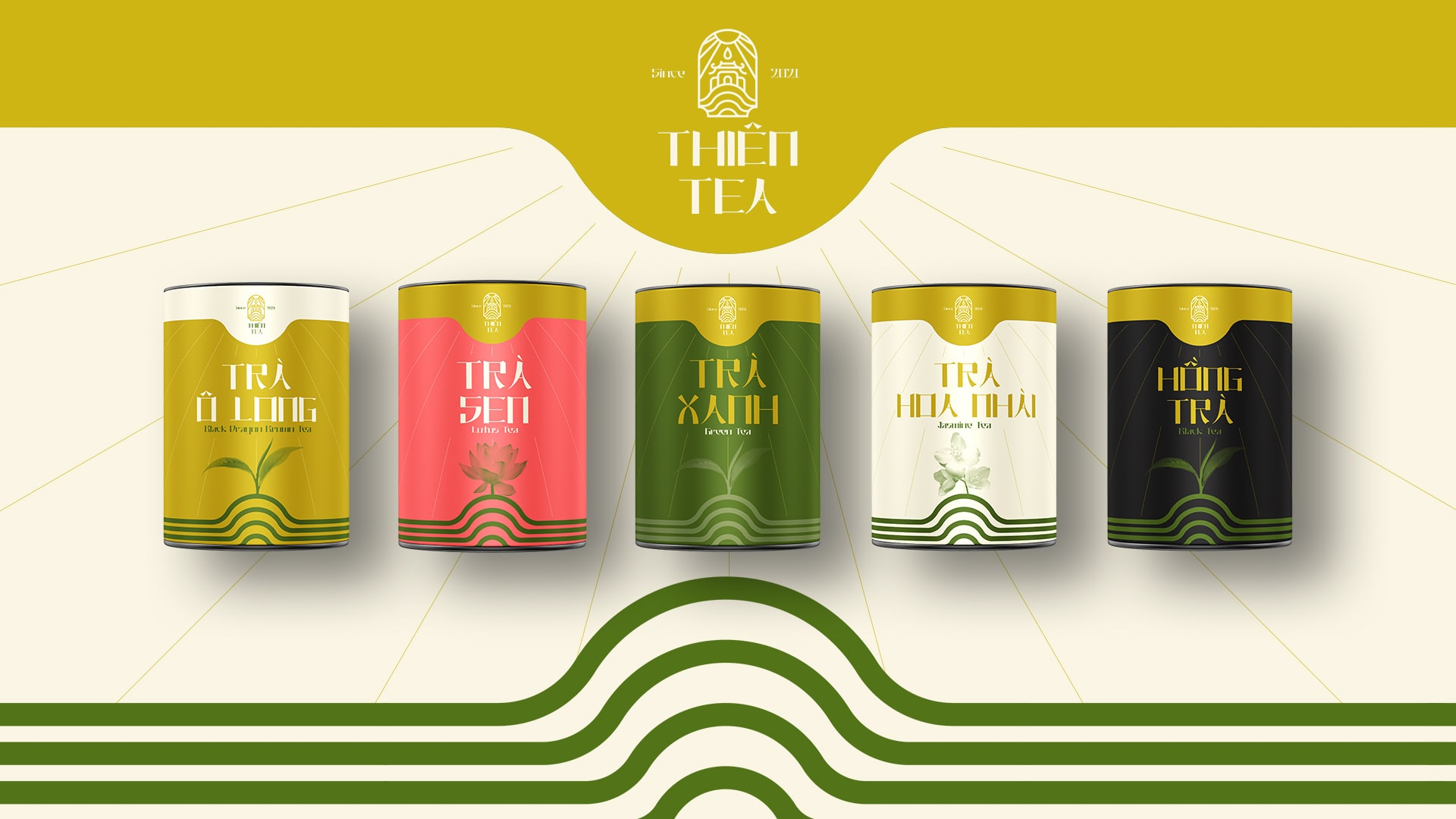 Branding and Packaging For Thien Tea by Khac Duc