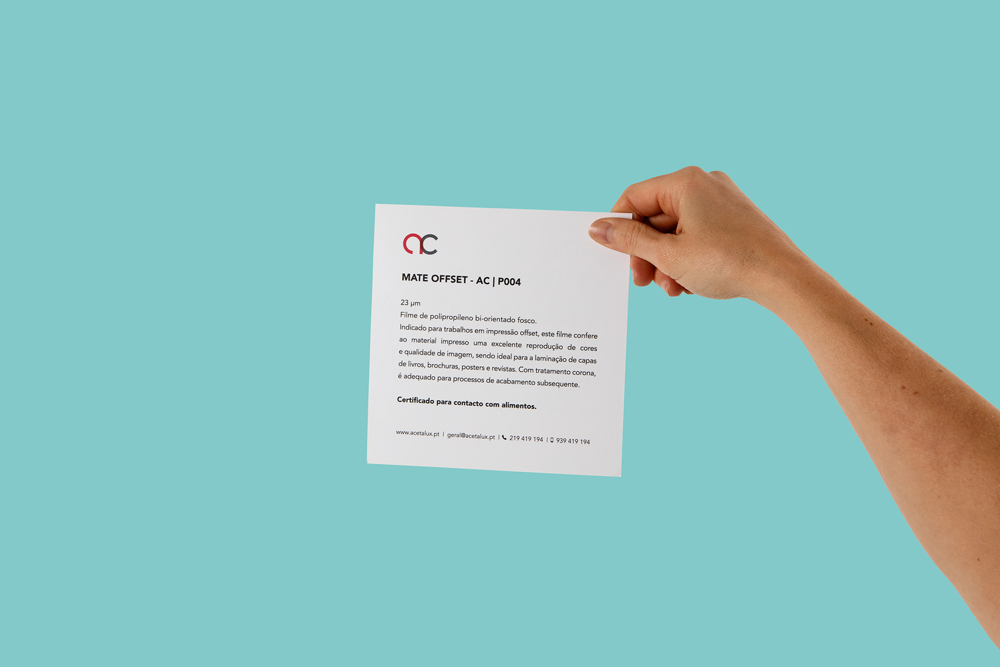 Promotion Catalogue for Acetalux Print Finishing Design by Denise Kuperman