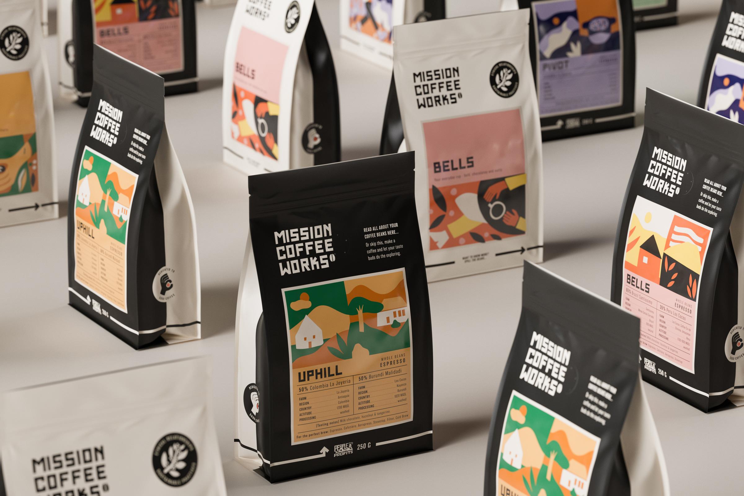 Mission Coffee Works Rebrand Created by Kingdom & Sparrow