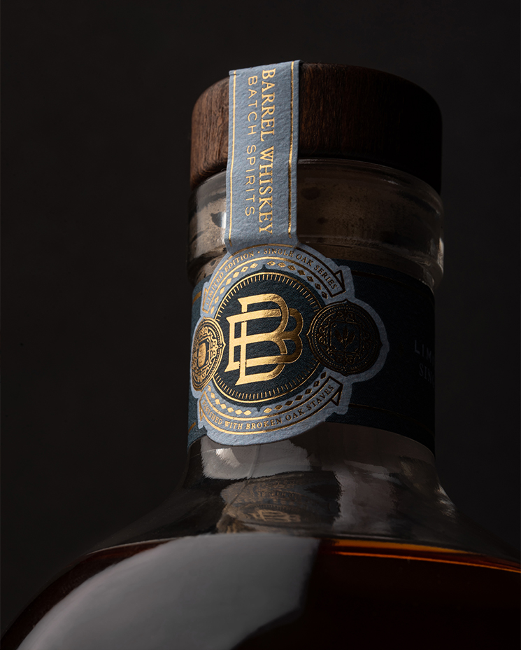 Broken Barrel Whiskey Packaging Designed by Alietum Studio