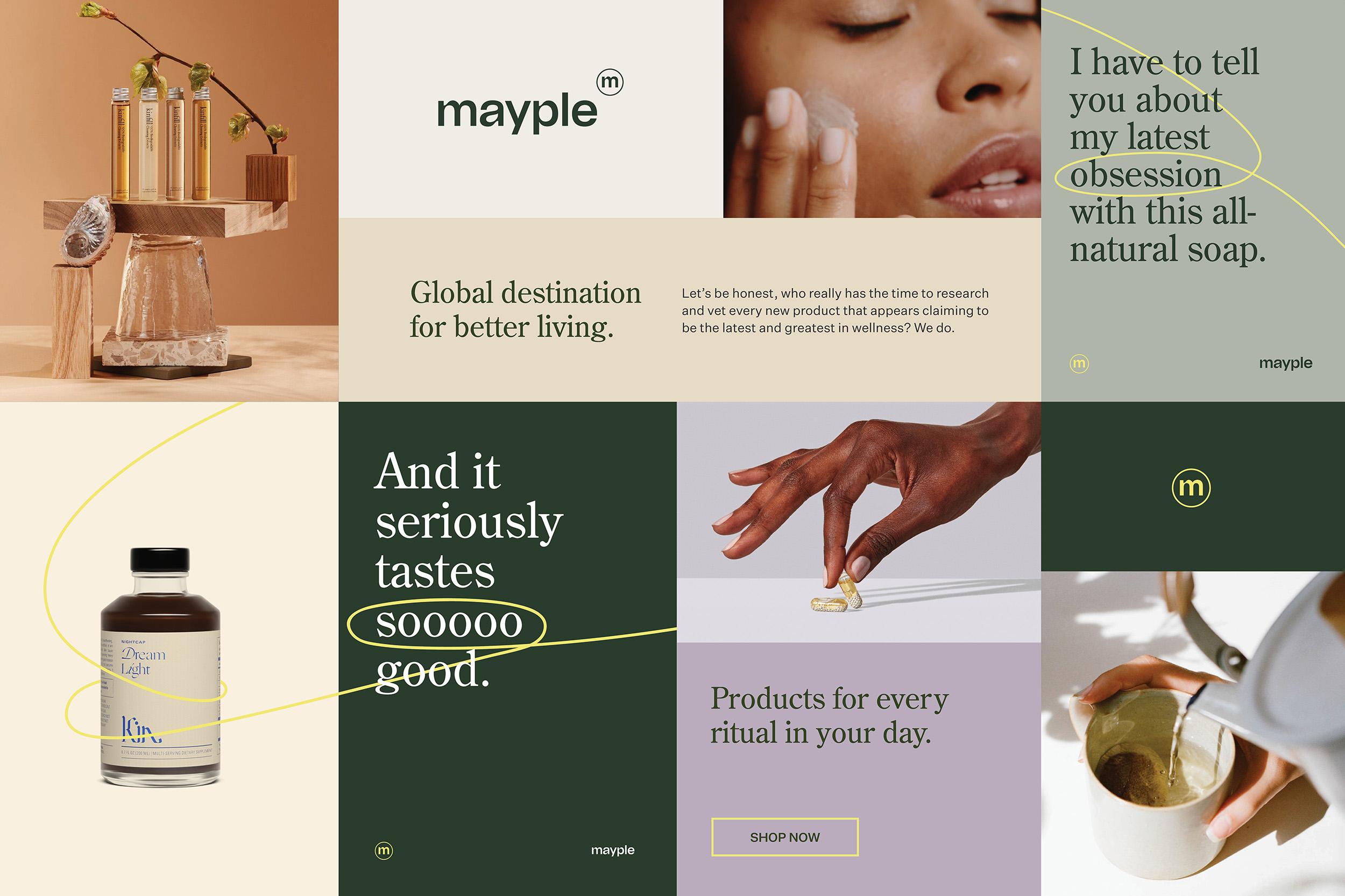 Mayple Branding and Website Design by Unspoken Agreement