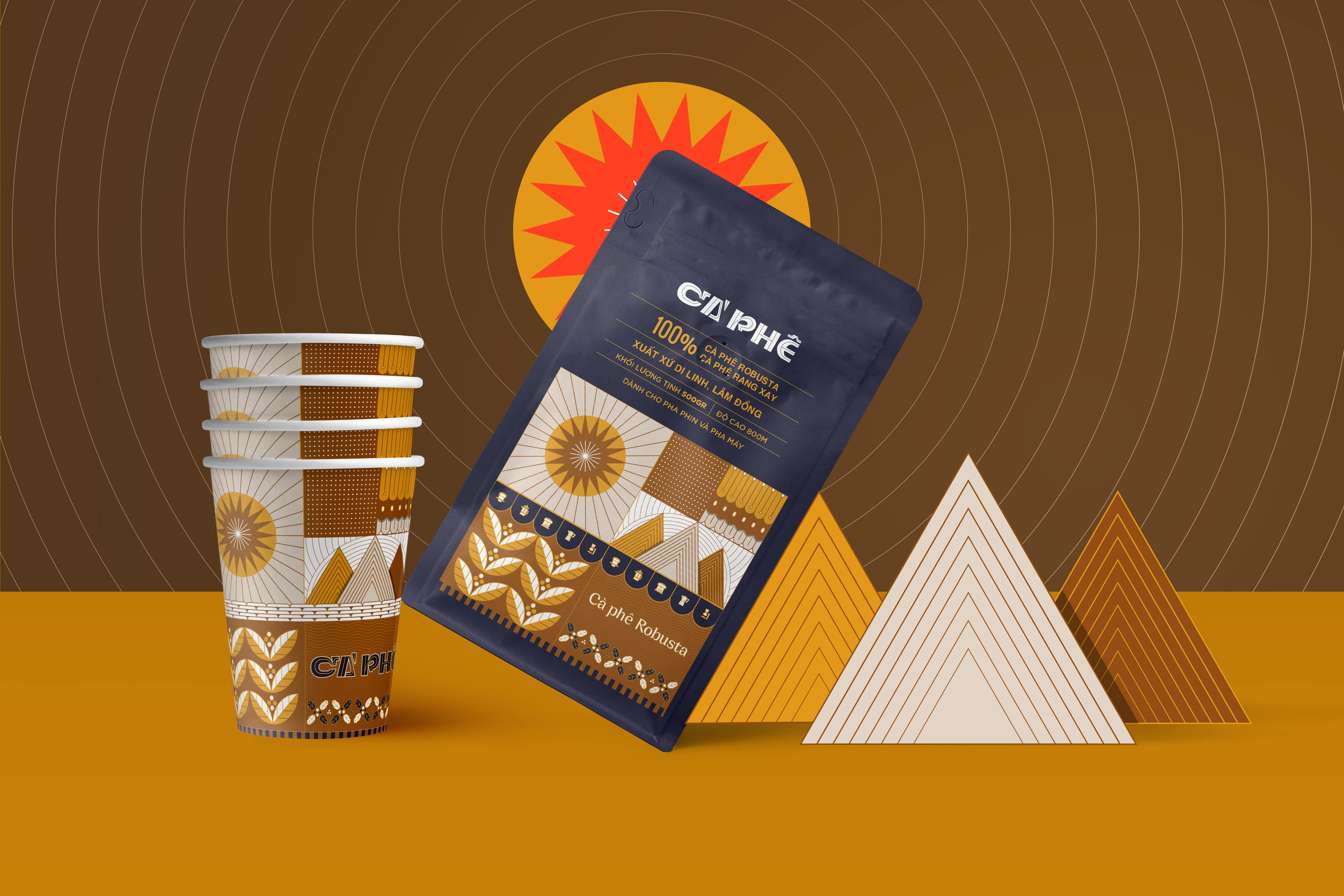 Packaging Design of Cao Nguyen Nang Chay Coffee Range by Vu Pham