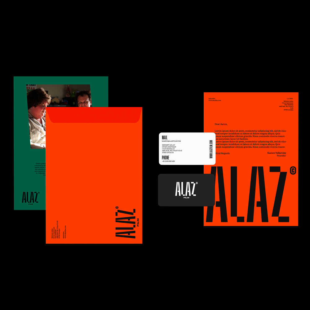 Branding and Visual Identity for Alaz Film by Mariam Khalifah