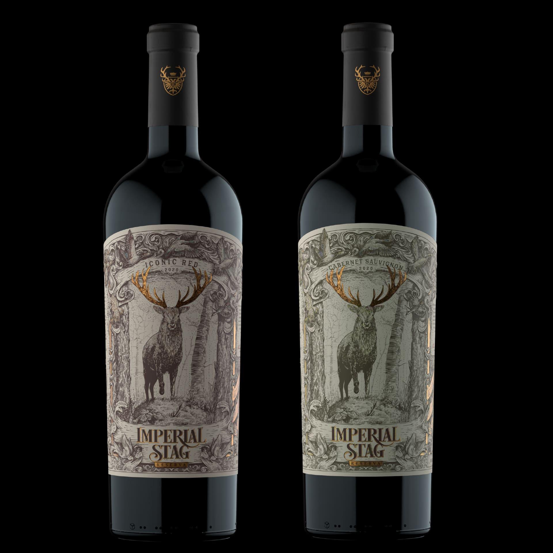 Estudio Argo Create Label Design and Illustration for Imperial Stag Wine
