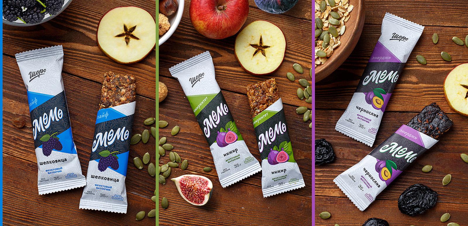 Mömö Natural Fruit Bars by Alexey Lysogorov