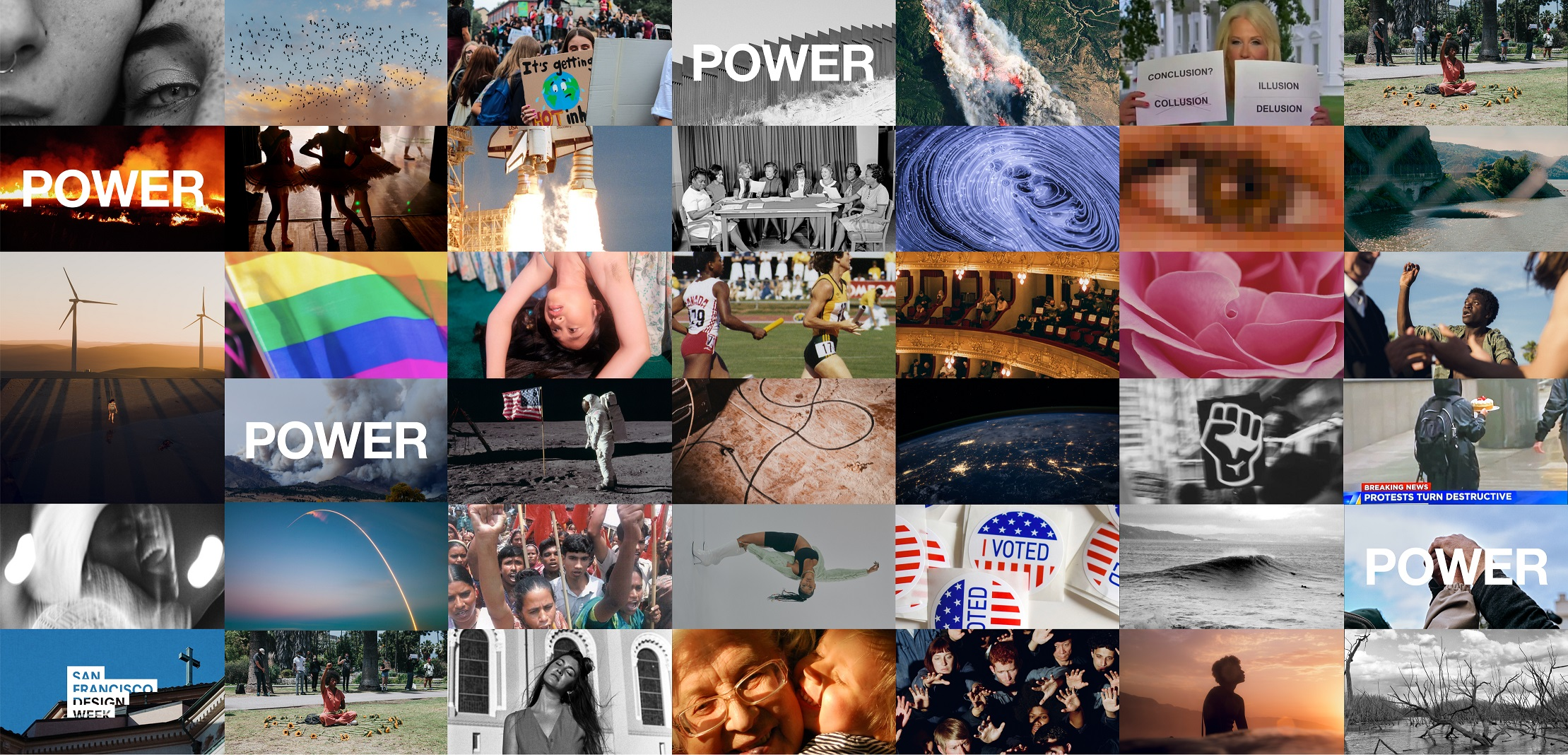 Landscape Creates 'Power' Identity for San Francisco Design Week