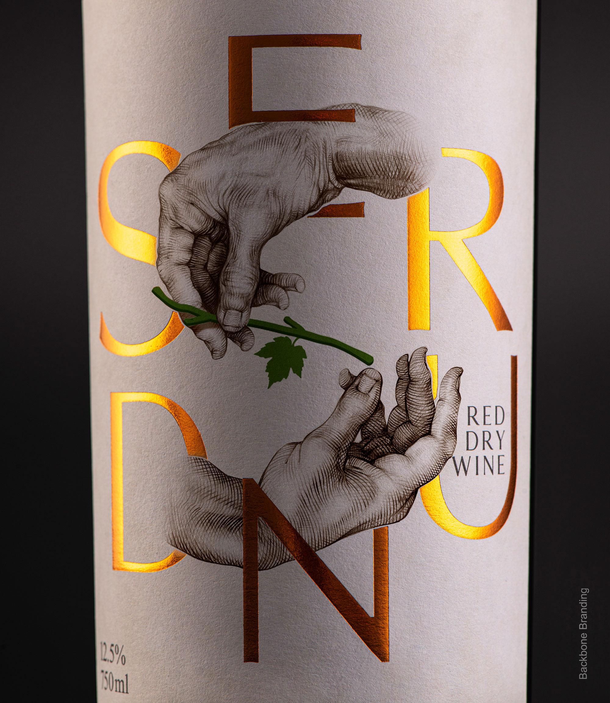 Brand and Packaging Design for Serund Wine by Backbone Branding