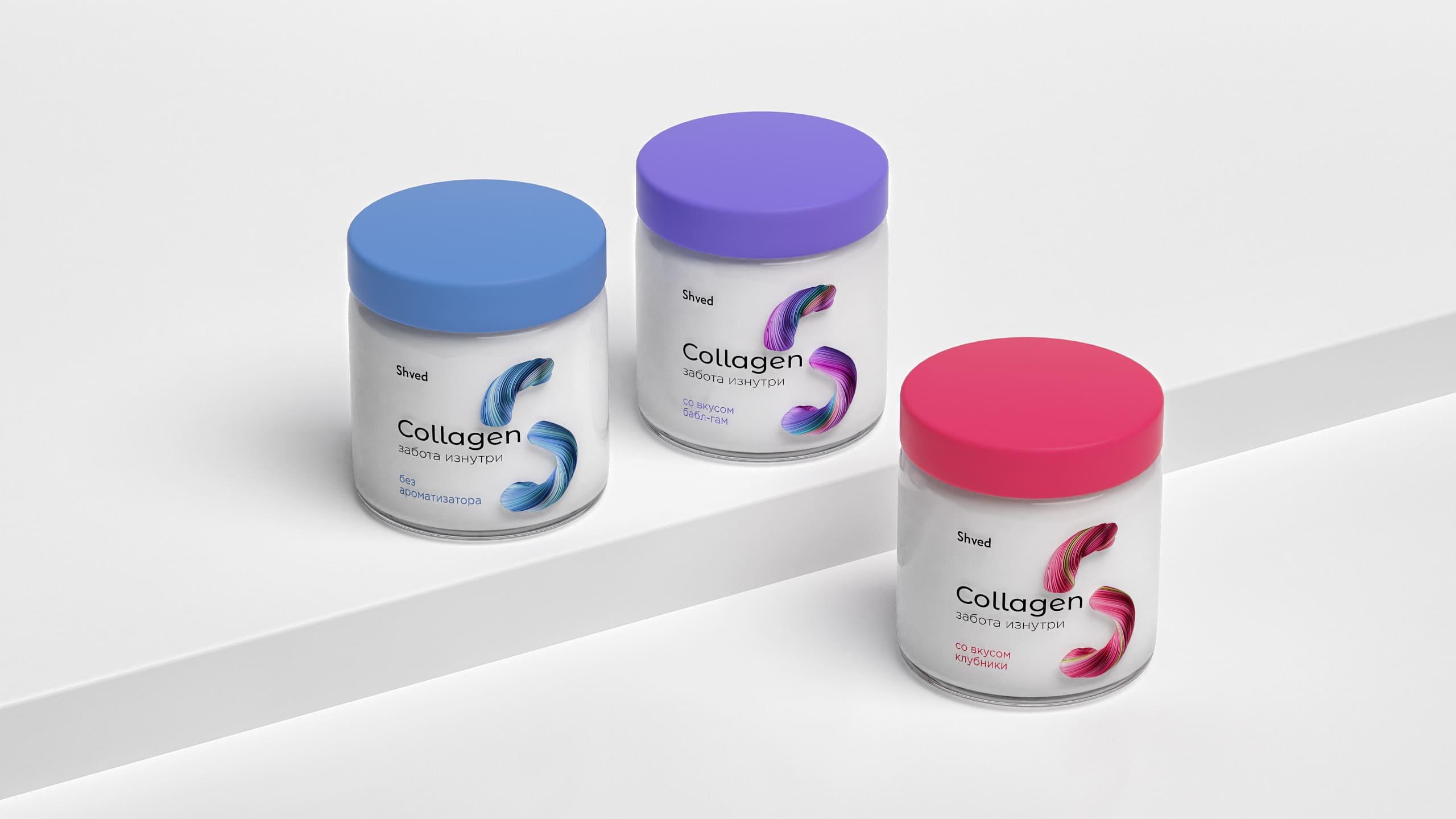 Zuper Agency Create Packaging Design for the Shved Collagen