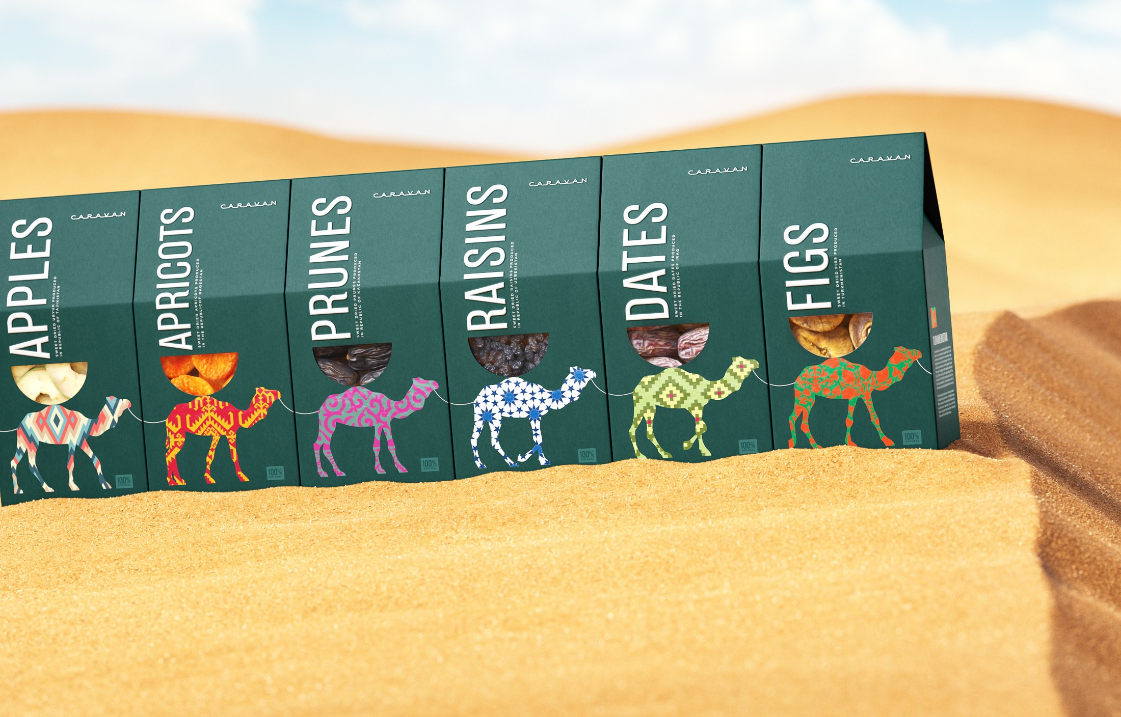 Concept of Packaging for Nuts and Dried Fruit Designed by Ohmybrand