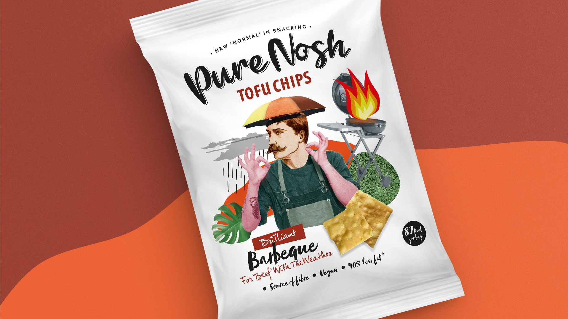 Slice Design Created Packaging for Pure Nosh Tofu Range of Chips