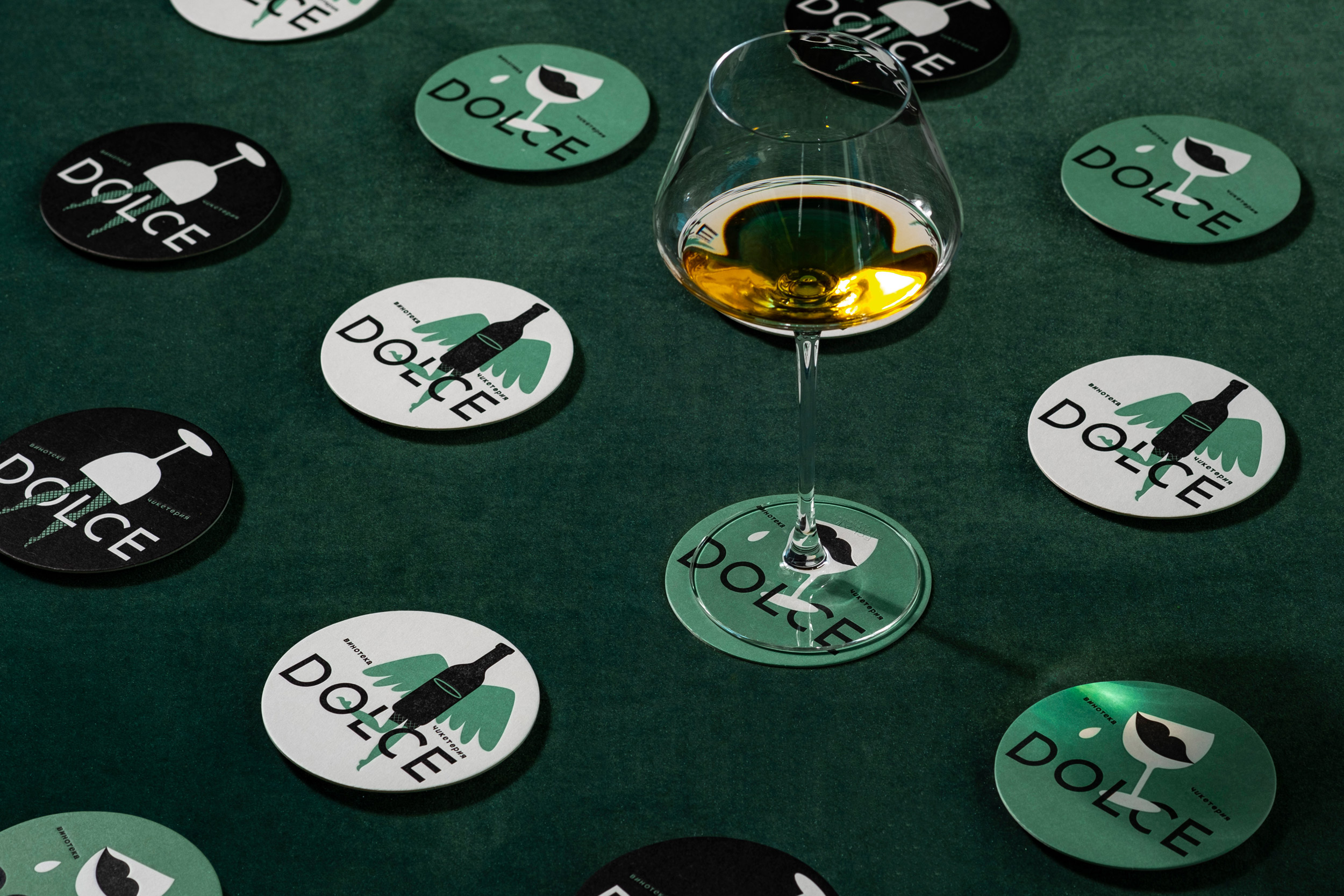 Bar and Restaurant Branding for Dolce Vinotheque Сhicketerie Russia
