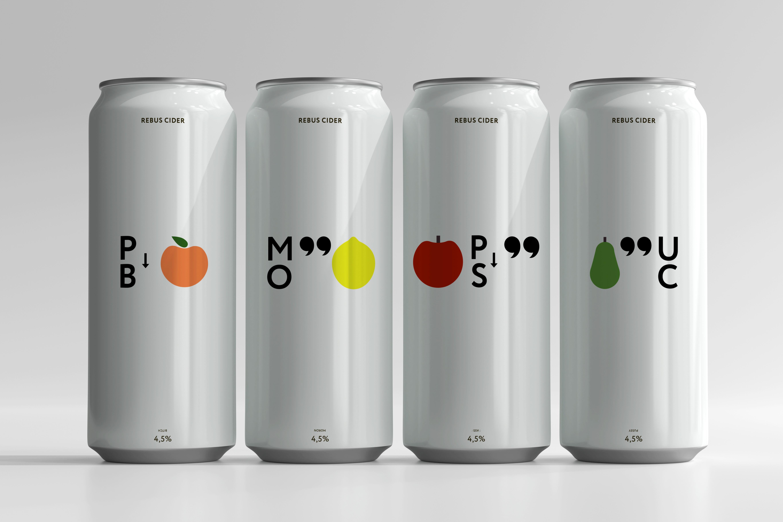 Student Concept for Rebus Cider Packaging Design