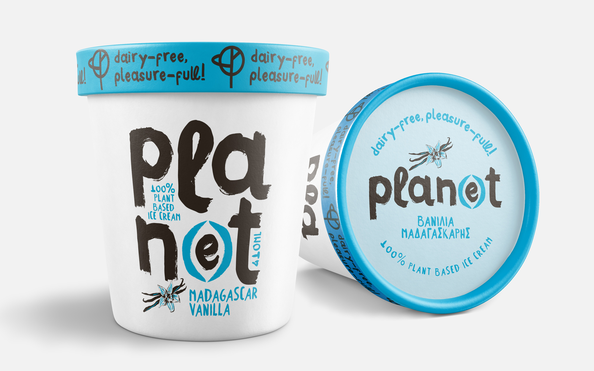 Brand and Packaging Design for Plan(e)t Foods Sustainability and Ethical Ice-Cream by Sophia Georgopoulou