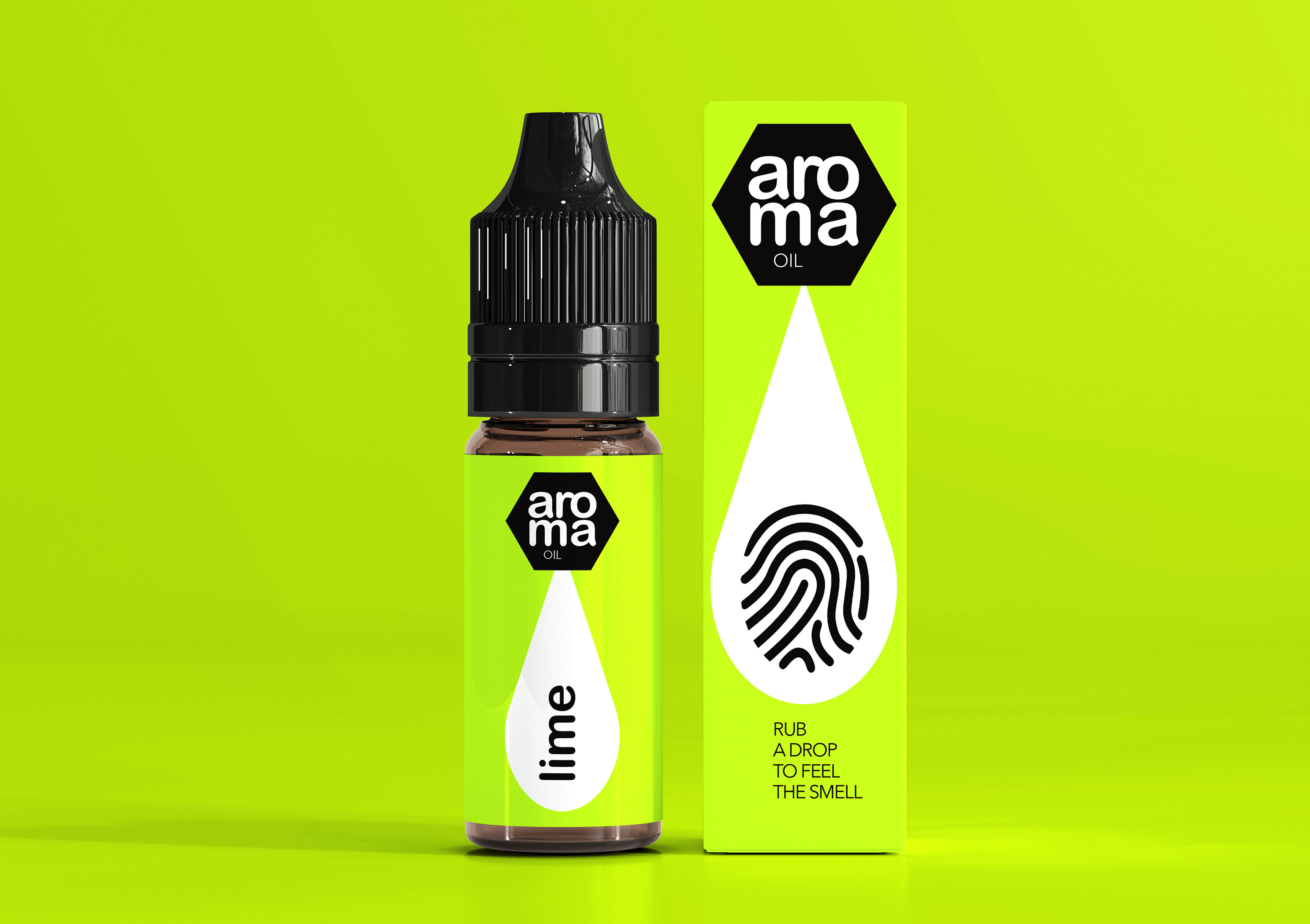 Aroma Oil Concept Packaging Design by Student Tanya Dunaeva