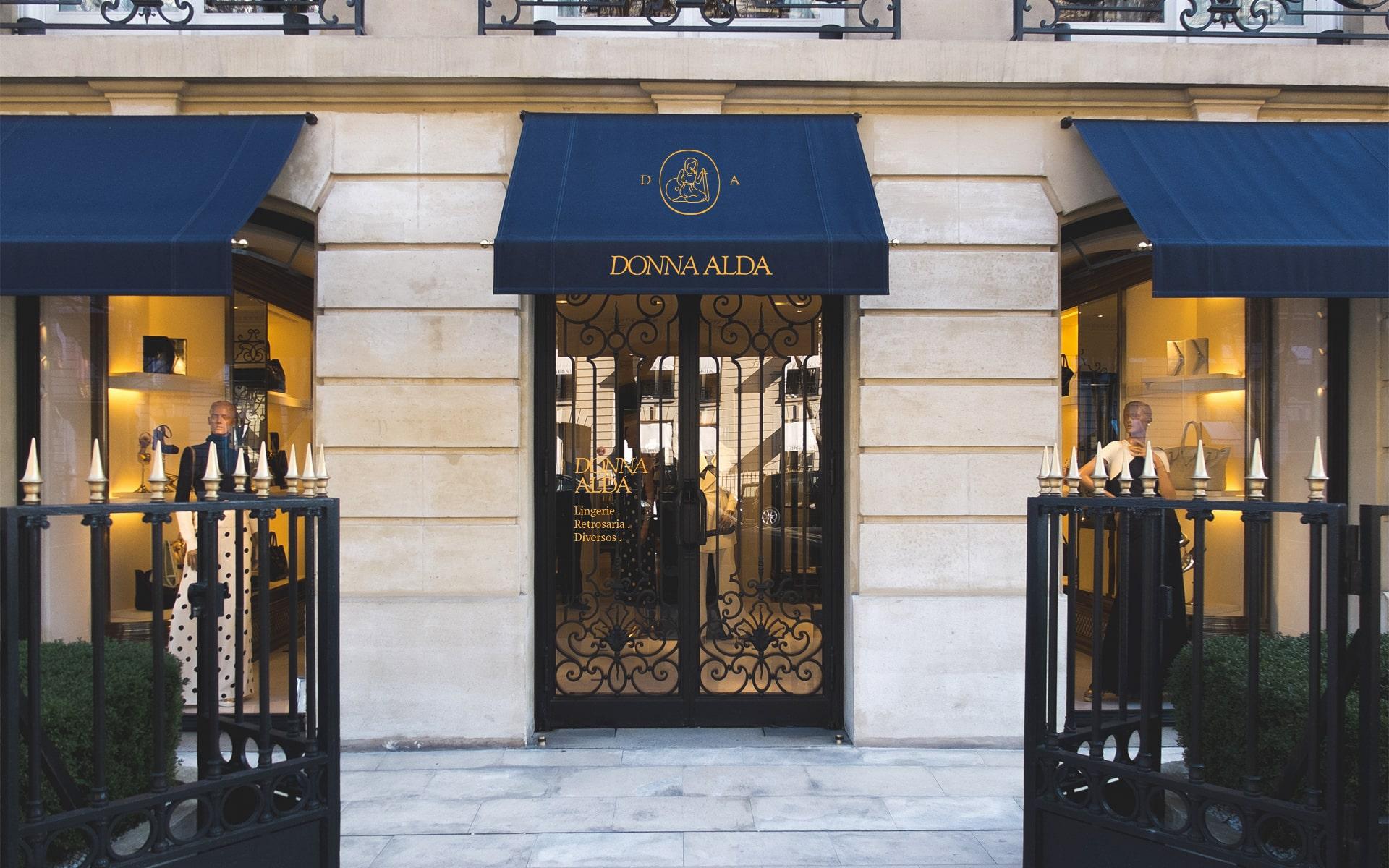 Raquel Fernandes Creates Branding for Donna Alda Store