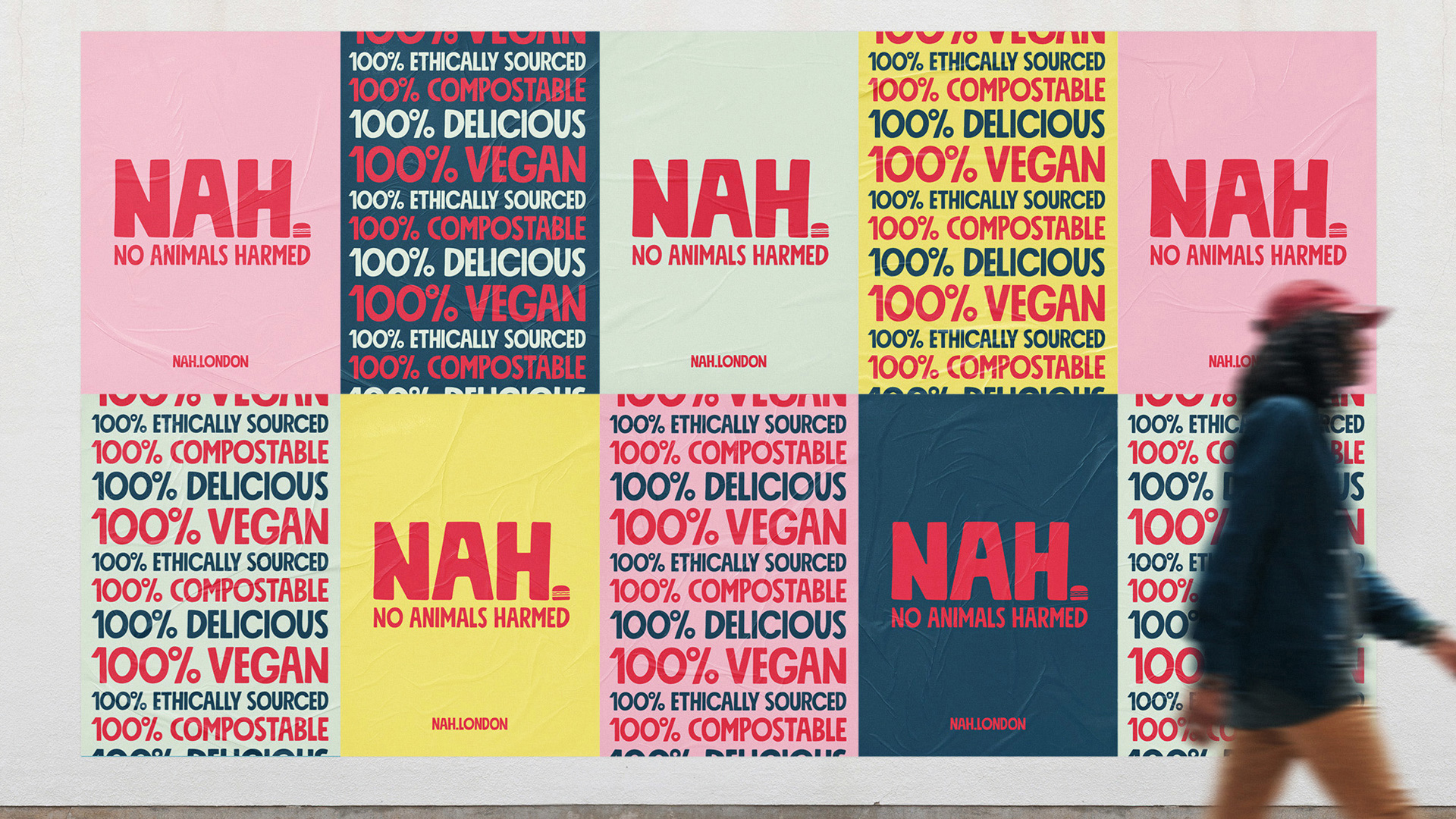 Ross Hammond Creates Branding for NAH. (No Animals Harmed) Takeaway Based in London Exclusive to UberEat