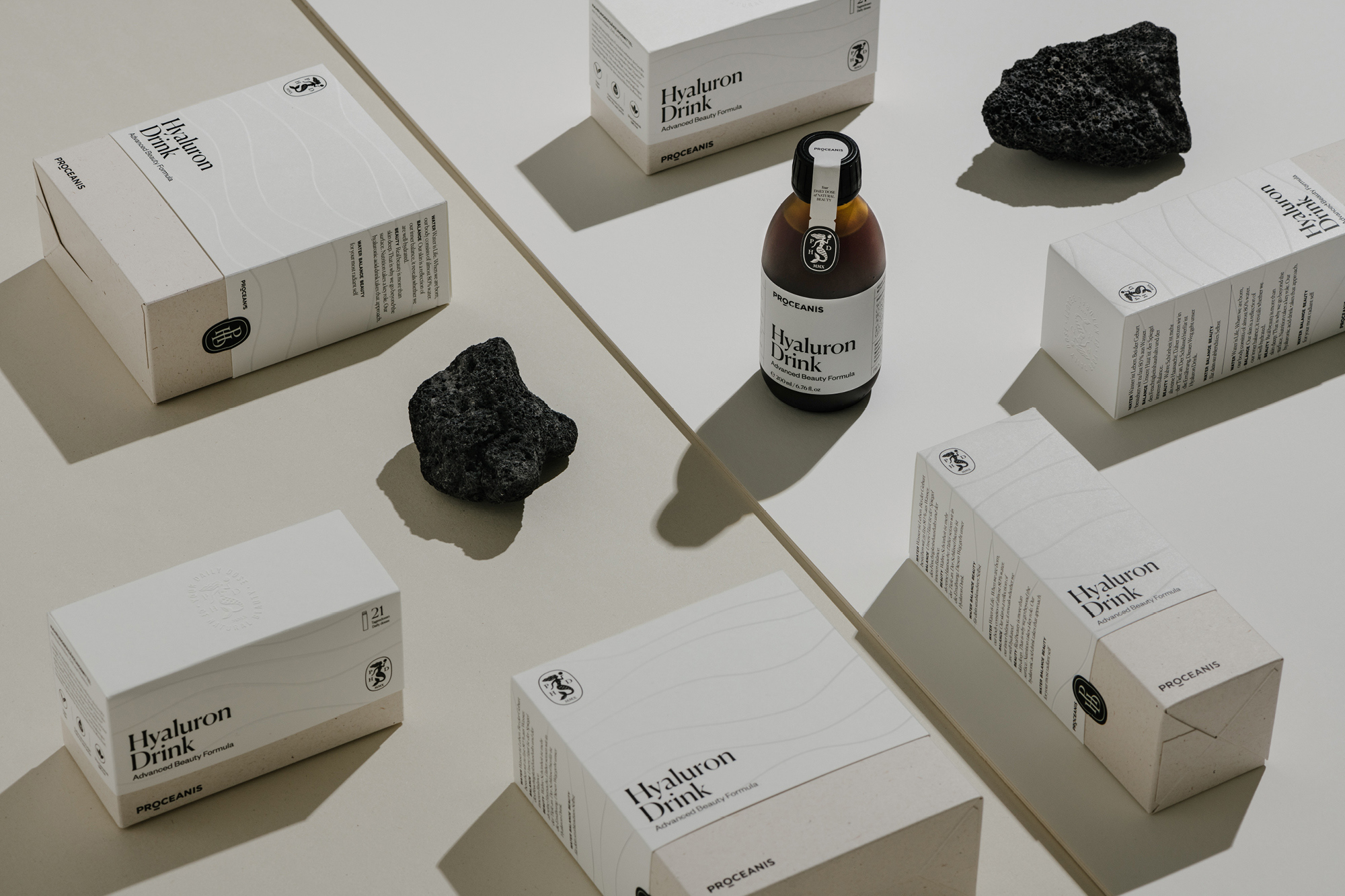 Marius Fahrner Design Rebranding for Proceanis Hyaluron Drink