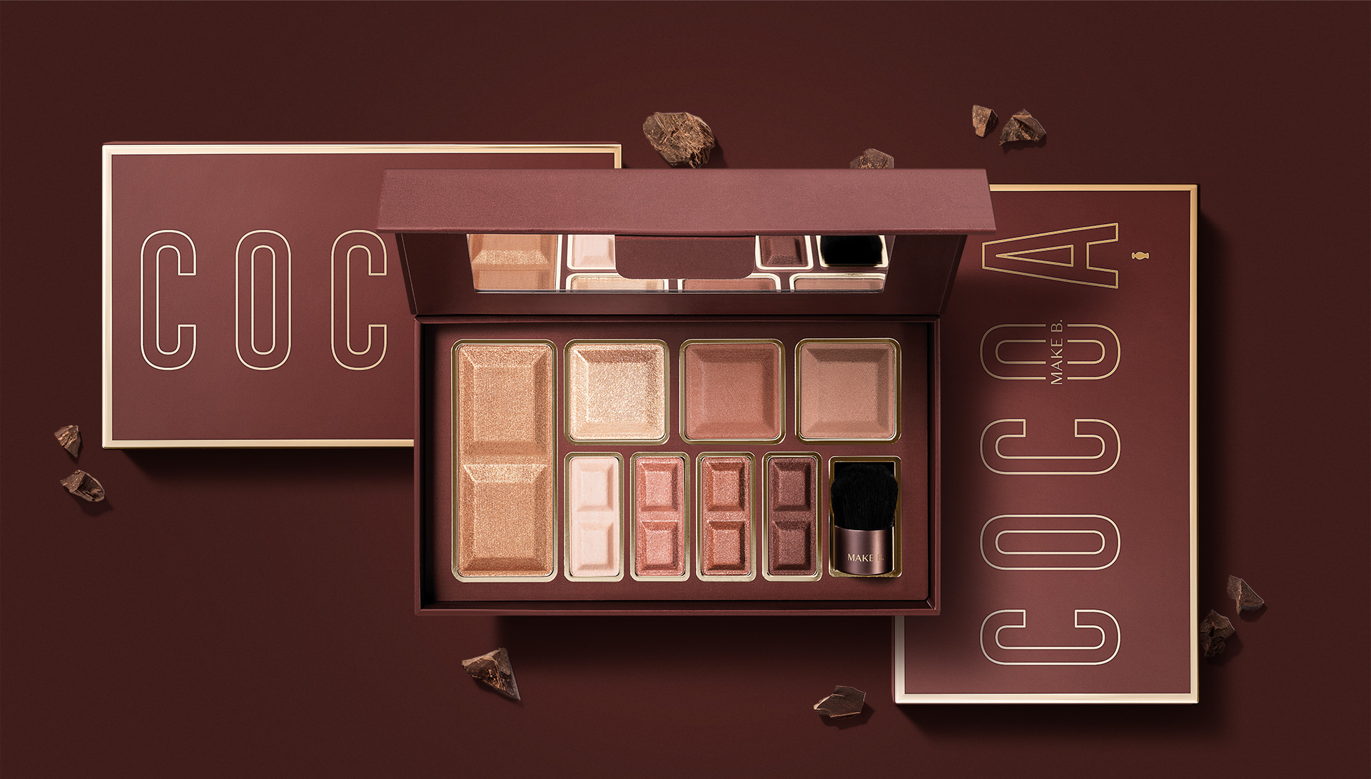 Make B. by O Boticário Makeup and Chocolate Packaging Design by MAD Creative
