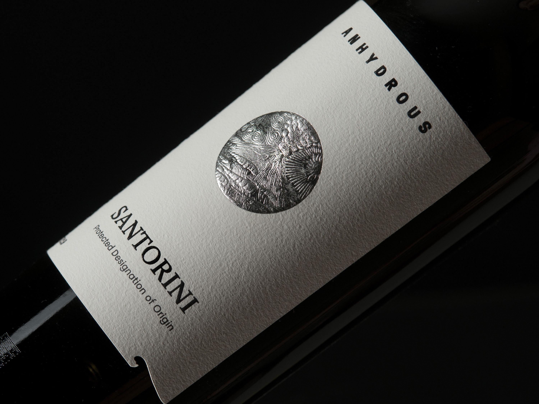 Marios Karystios Creates Anhydrous Winery Santorini Label Packaging Design Range