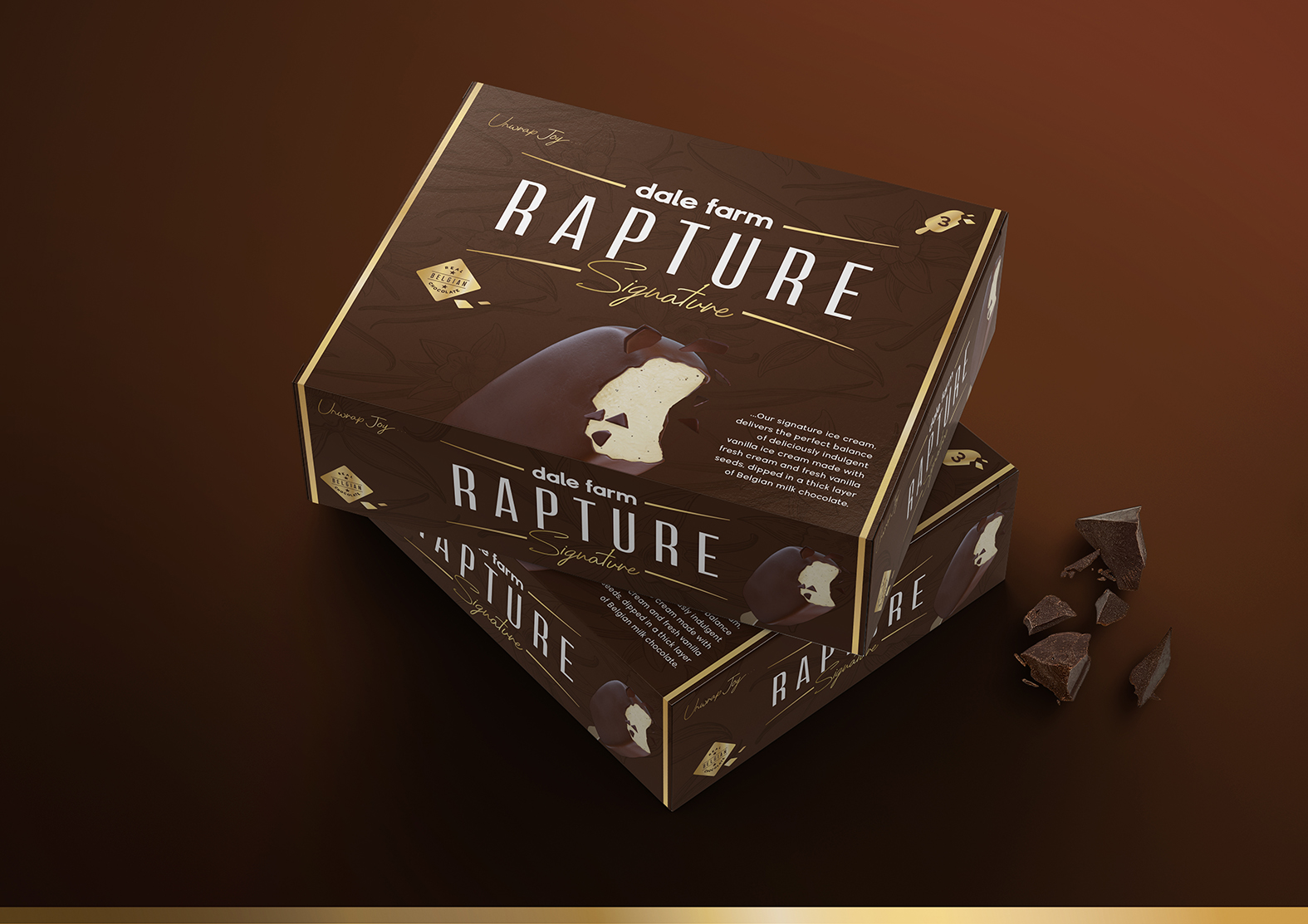 Simon Pendry Creative Redesign of Dale Farm Rapture Ice Cream Bars