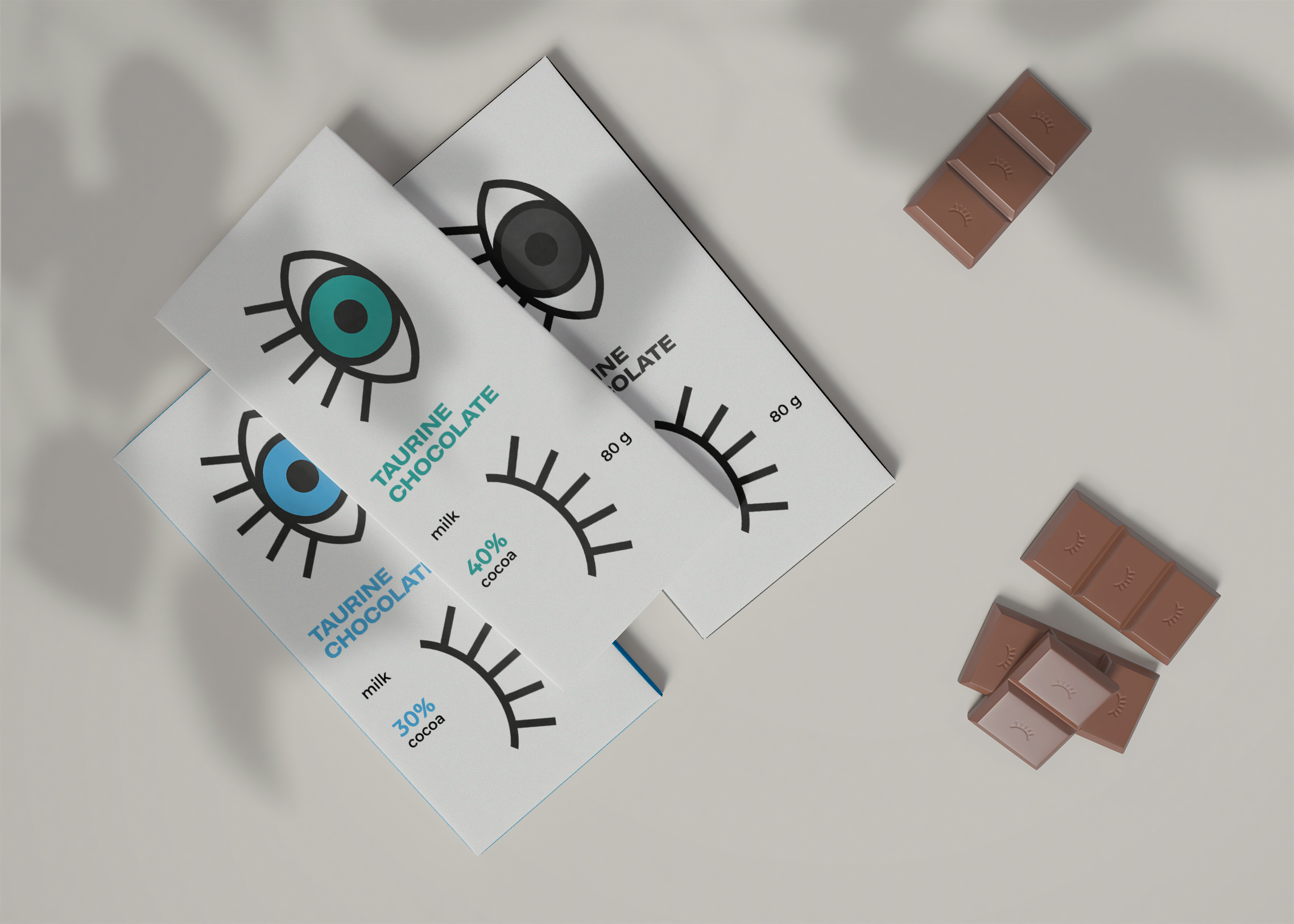 Taurine Chocolate Packaging Design Concept by Student Kristina Dyug