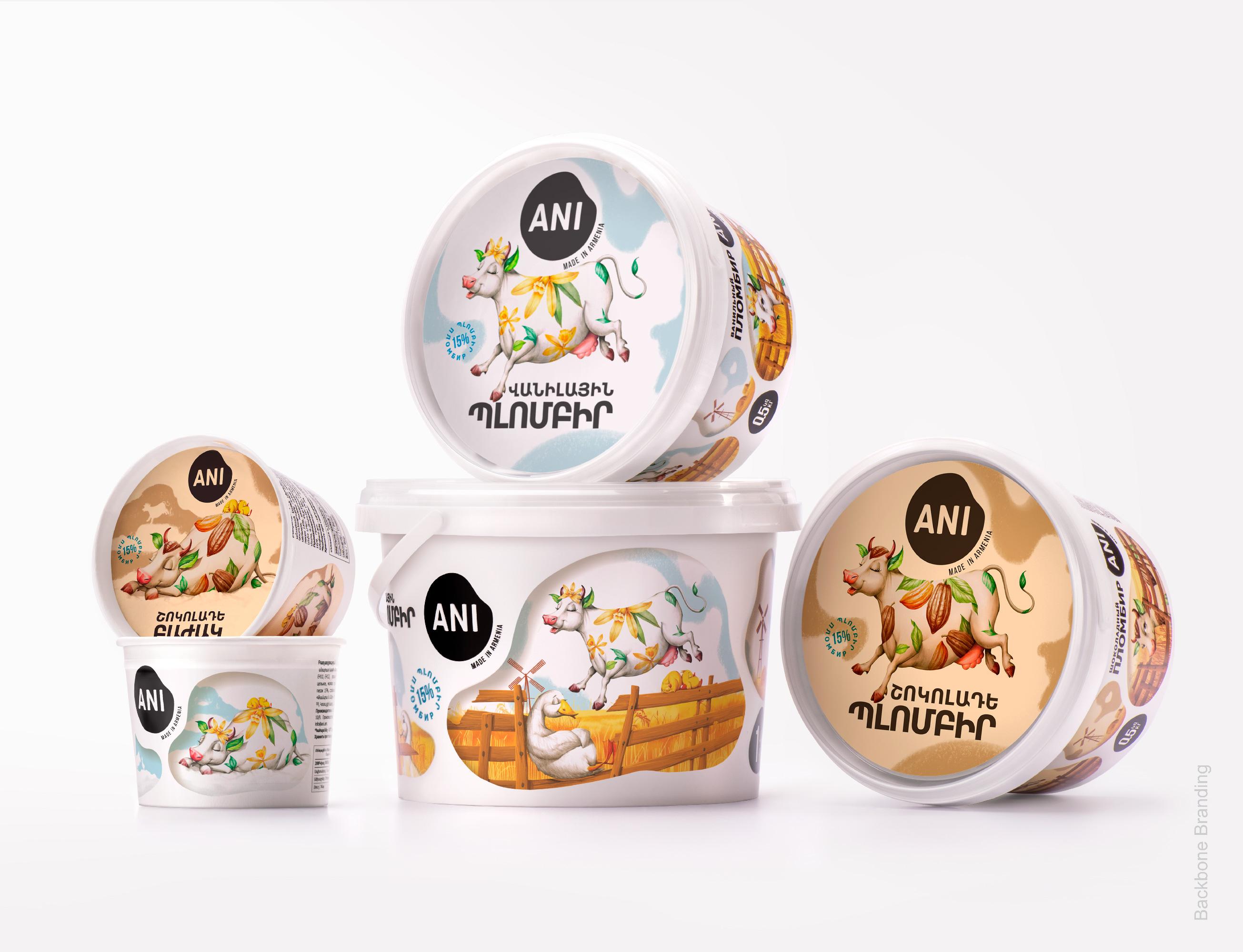 Backbone Branding Create Packaging Design Range for Ani's Sub-Brand Butter-Based Ice Cream