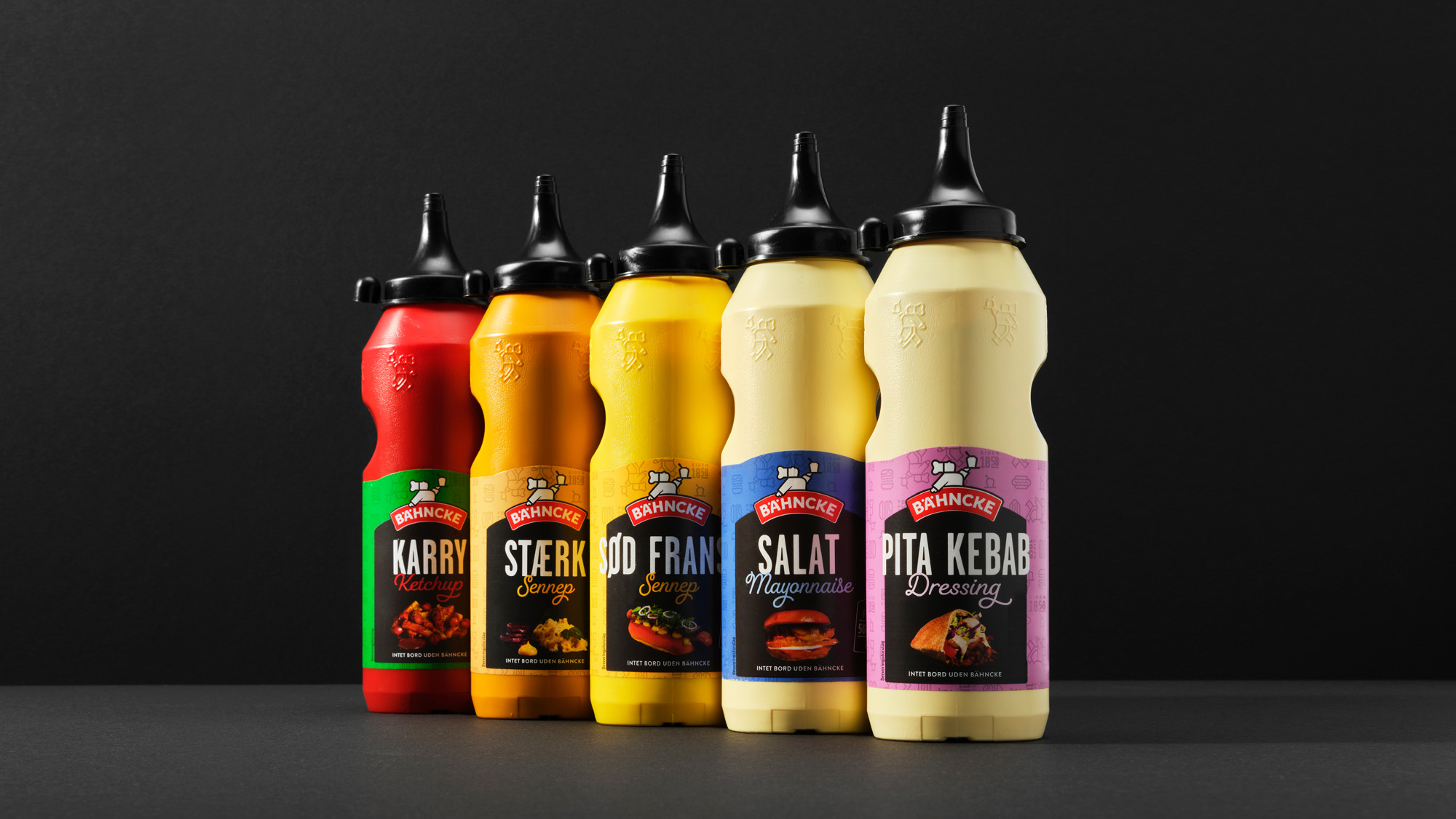Everland Creates Packaging Design for Bähncke Fast-Food Sauce Brand