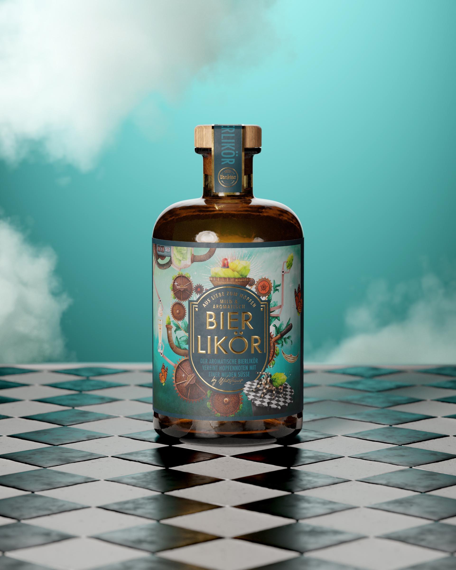 Warsteiner Beer Liqueur Packaging Design by Win Creating Images