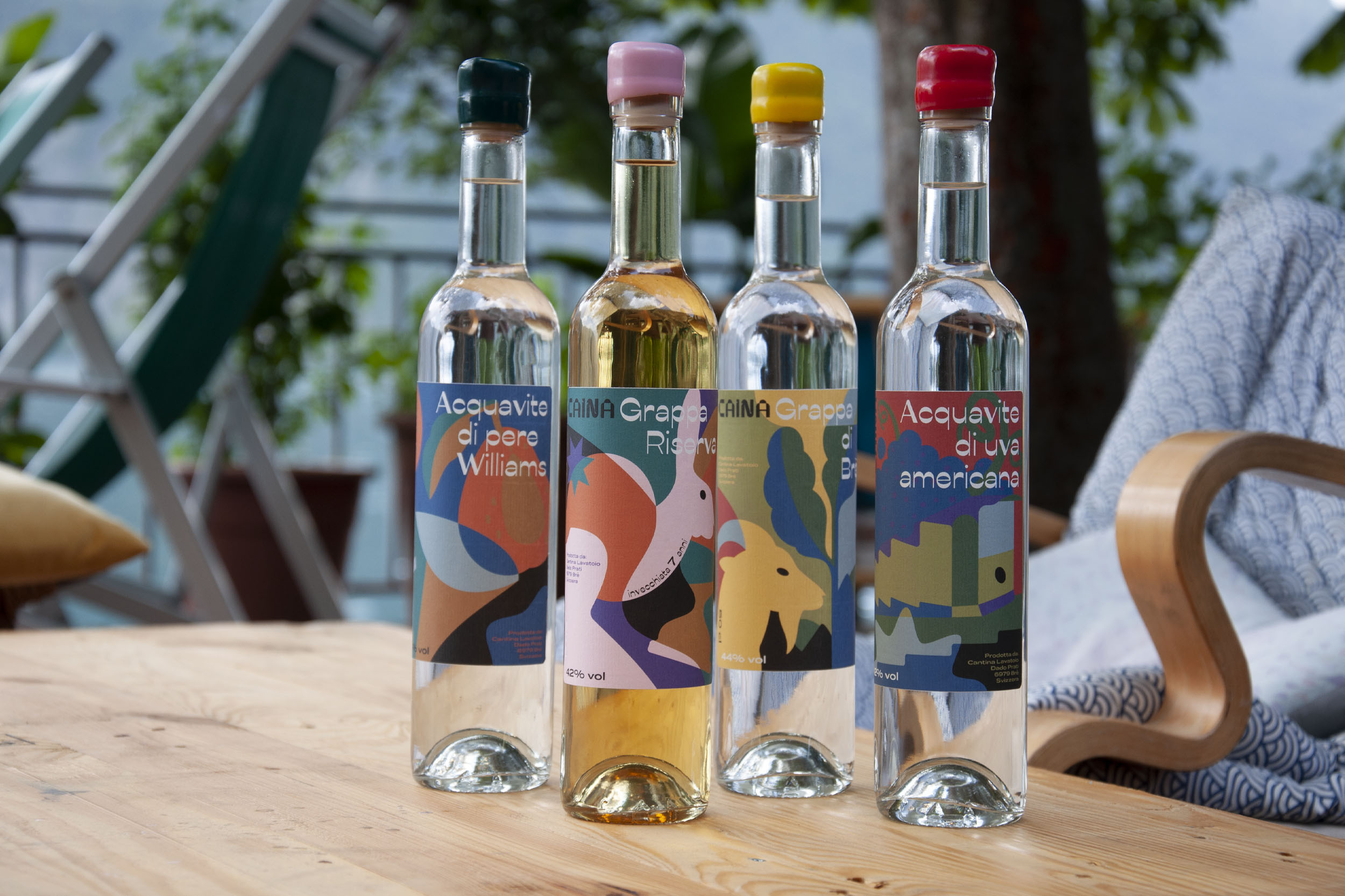 ByVolume Develop Brand Identity and Packaging Design for Caina Distillery's New Products for the Swiss Market
