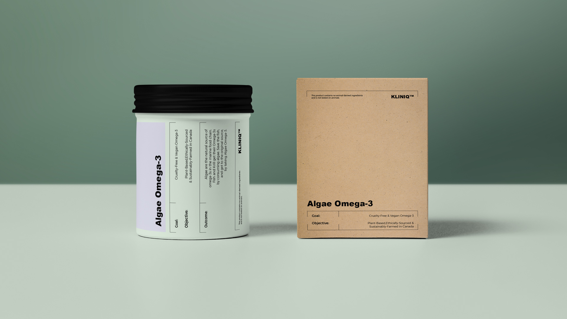Identity and Packaging for Kliniq a Range of High-Quality Health Care Products on Algae Basis