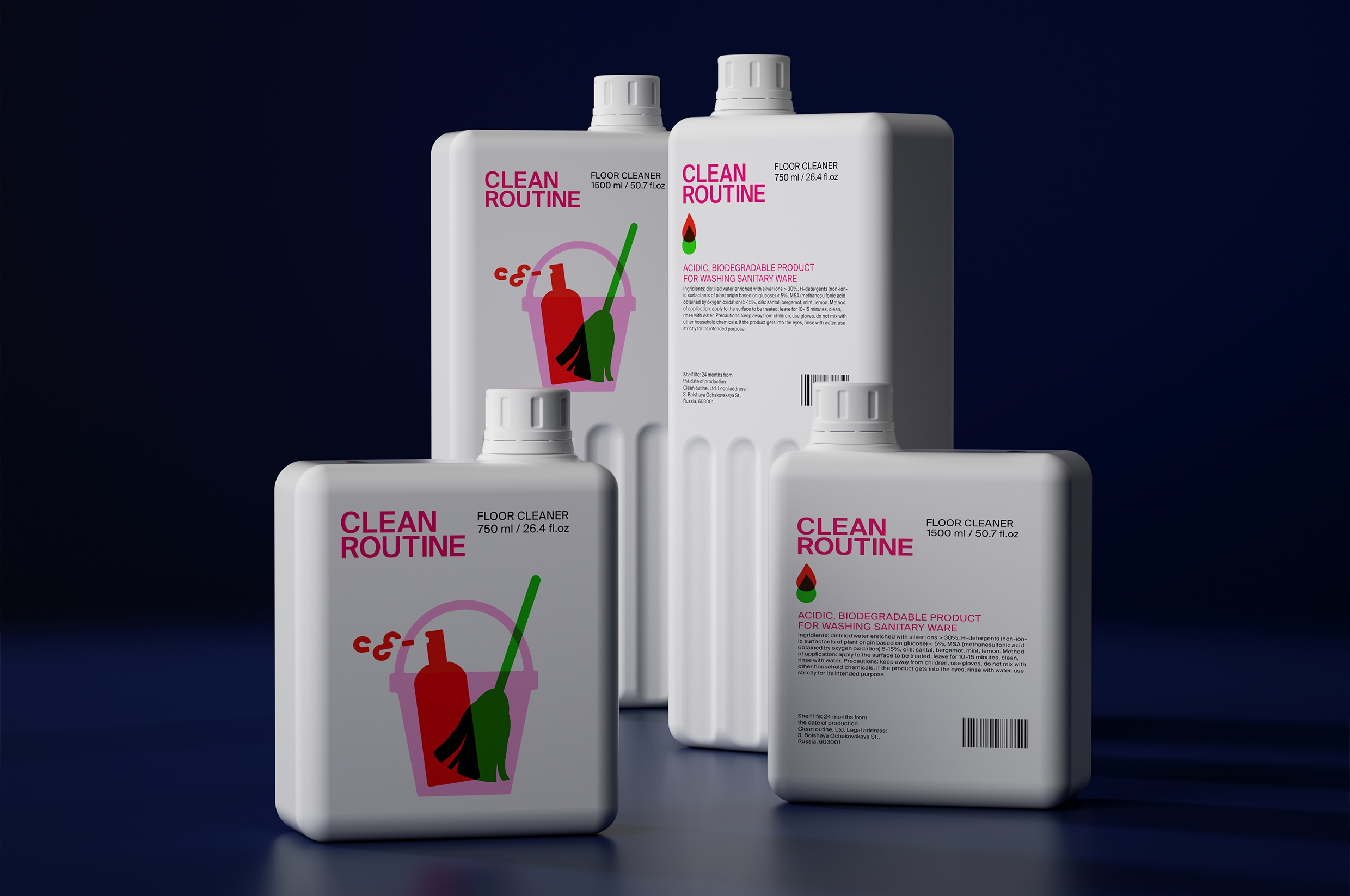 Packaging Design for Clean Routine Cleaning Products