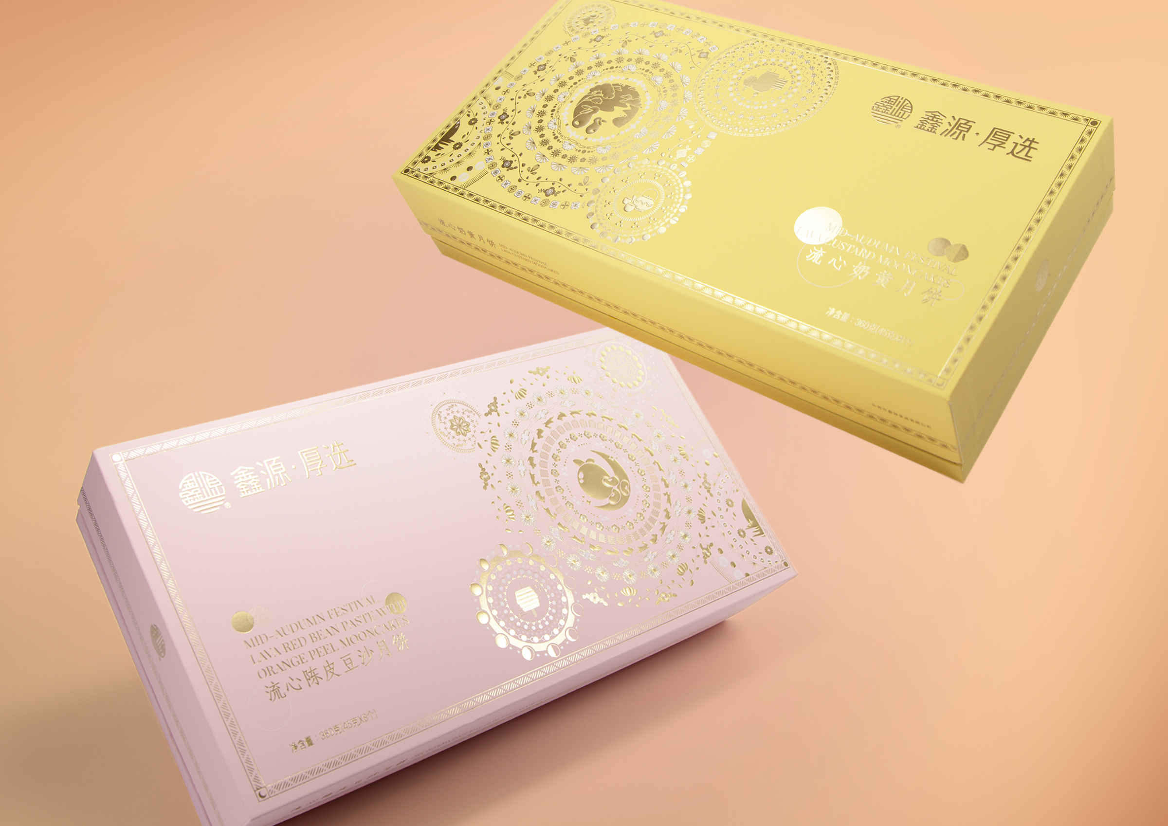 Box Brand Design Create Packaging for the Lava Mooncake of Xinyuan Food