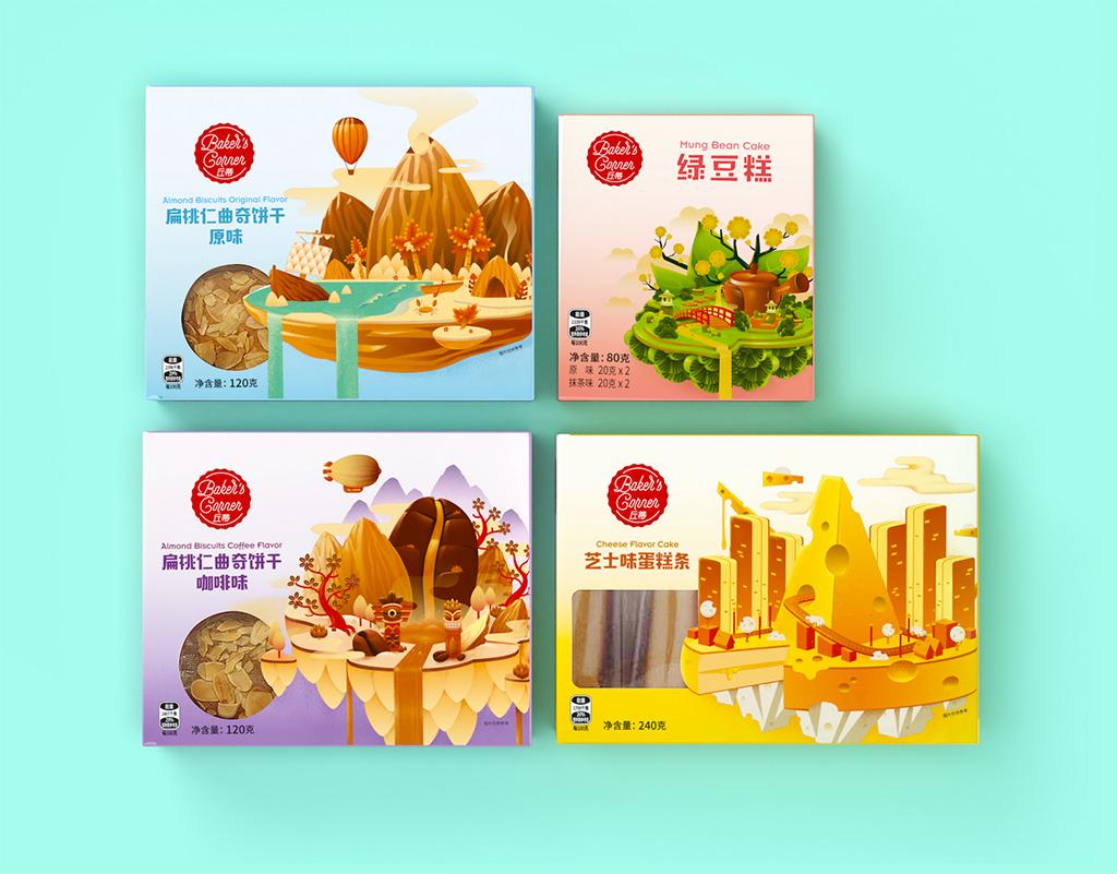Aldi China Baker's Corner, Premium Packaging Range Design by Motor Brand Design