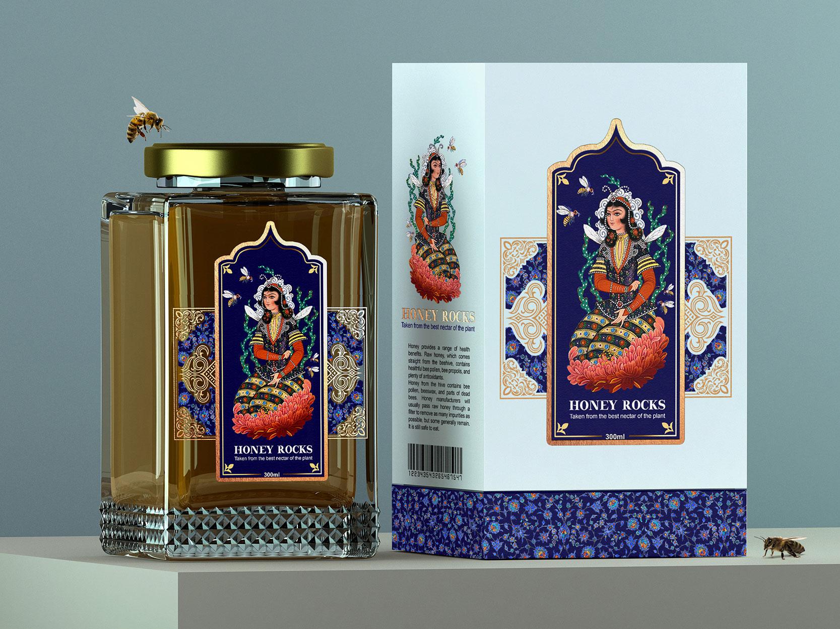 Taha Fakouri Creates Packaging Design for Honey Rock