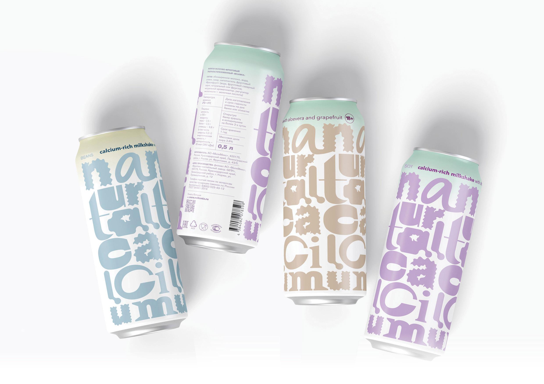 Natural Calcium Milkshake Cocktail Packaging Concept by Tanya Dunaeva