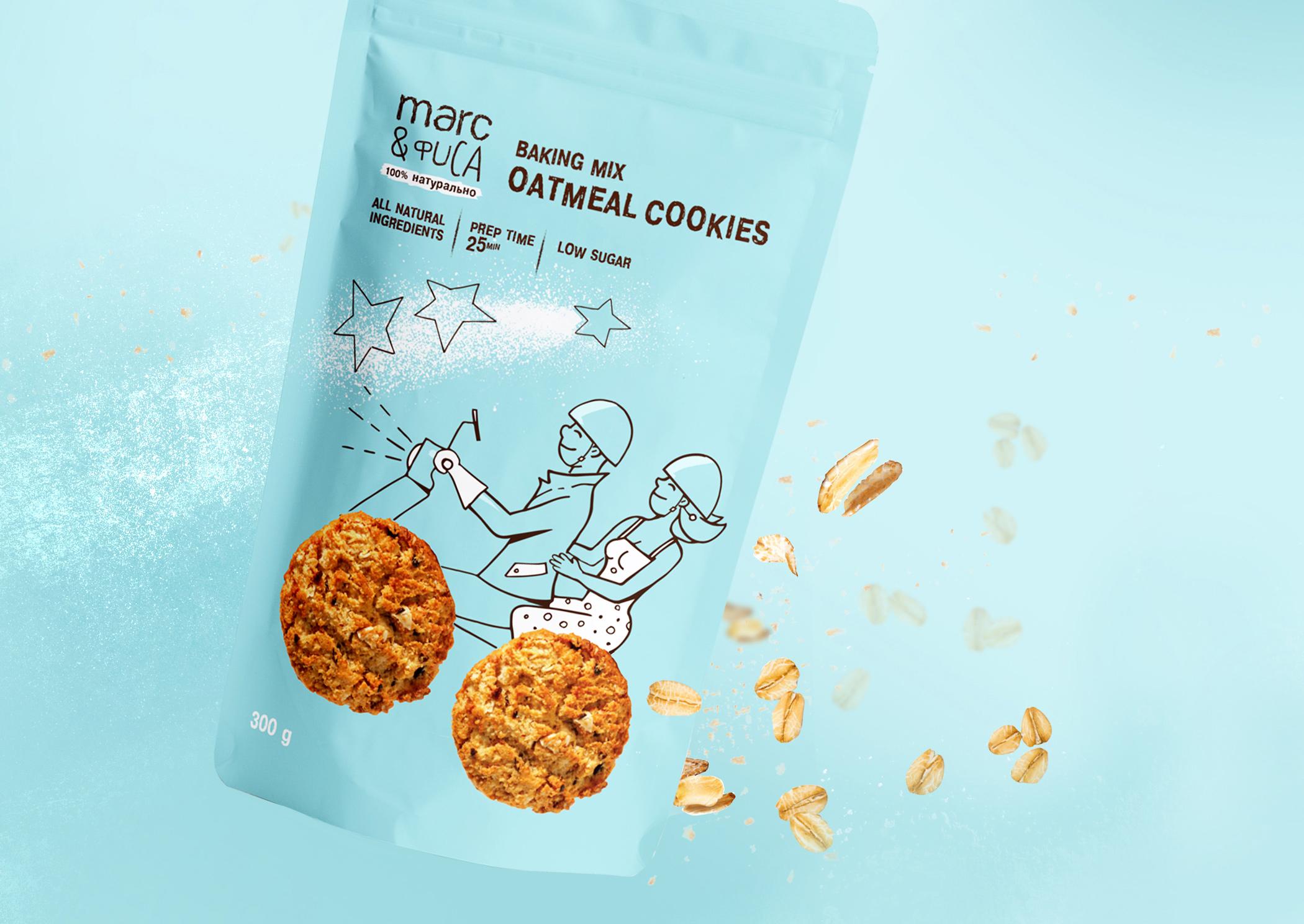 Marc&Fisa Baking Mix Packaging Designed by Ekaterina Osina