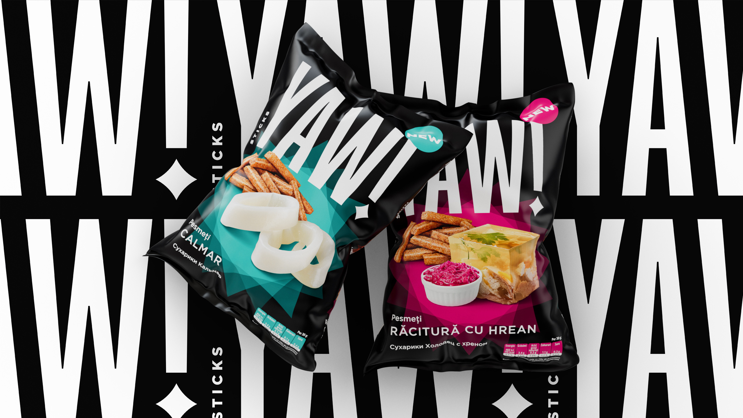 Dozen Agency Brand and Packaging for YAW! Snack Producer