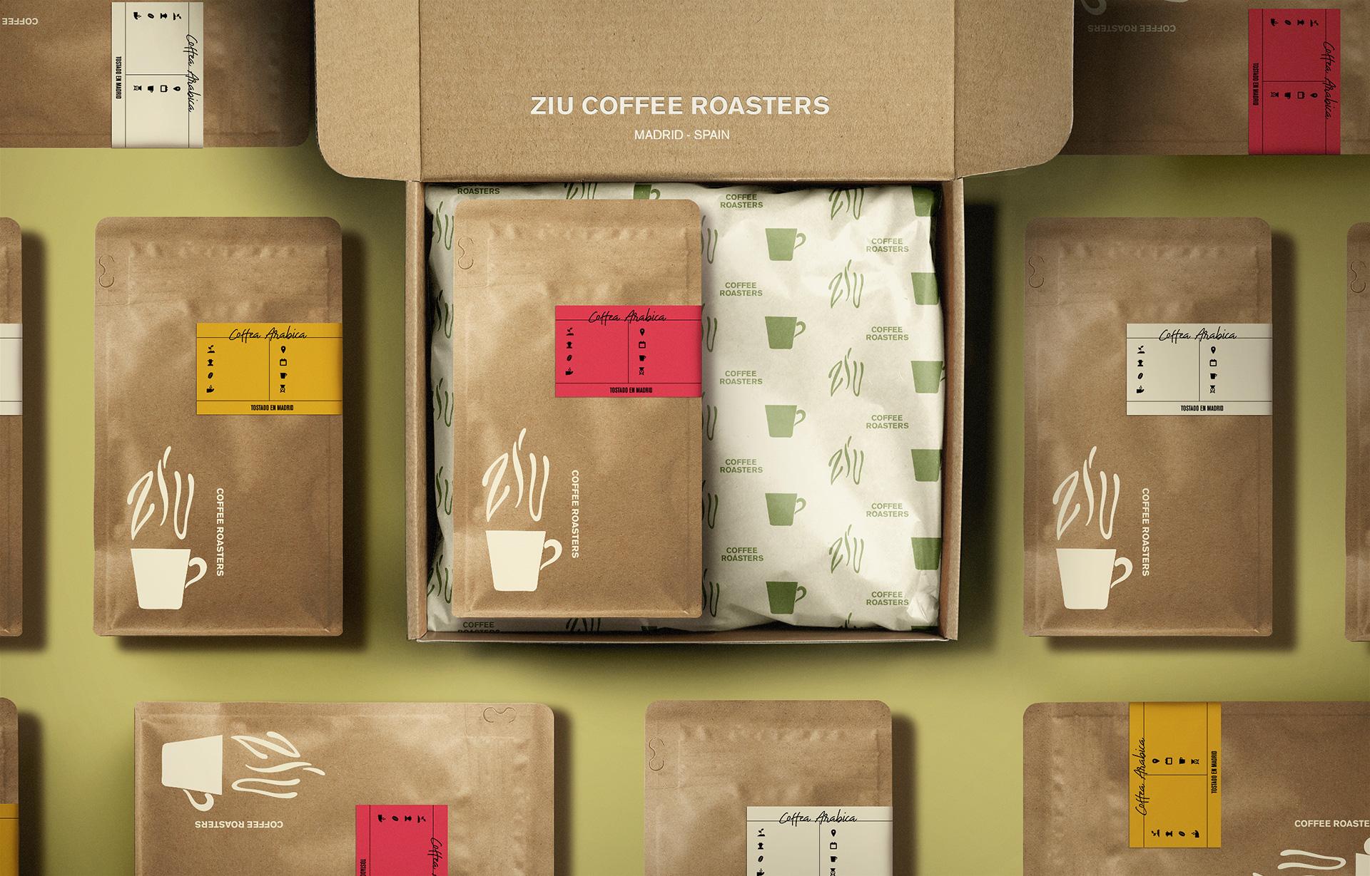 Branding for Madrid's Newest Specialty Coffee Roaster Ziu