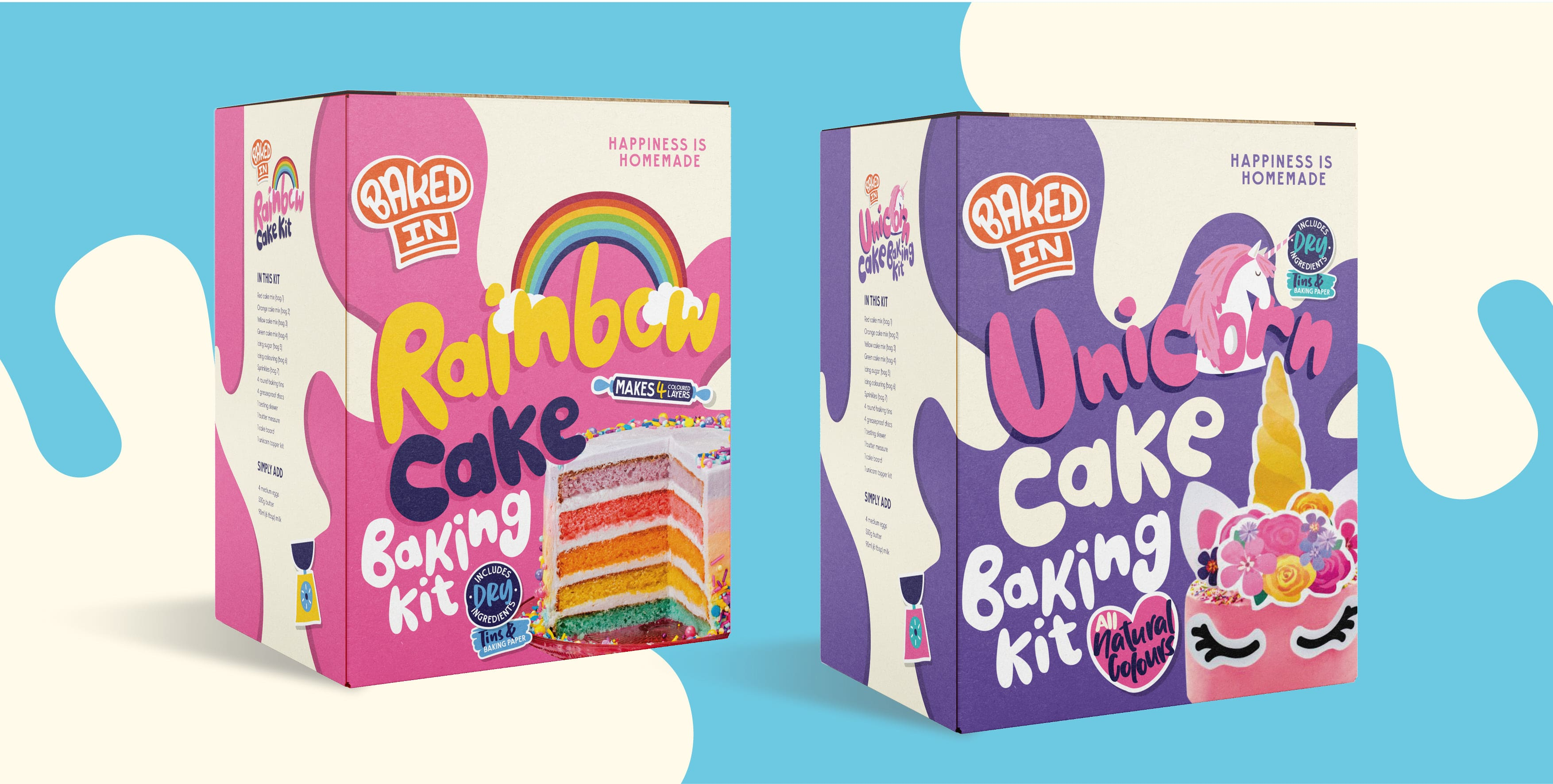 We Launch Create Playful New Brand Identity for Home Baking Subscription Service Baked In