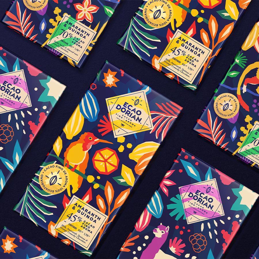 Packaging and Brand Design for Ecaodorian Chocolate Ecuatoriano Fino de Aroma