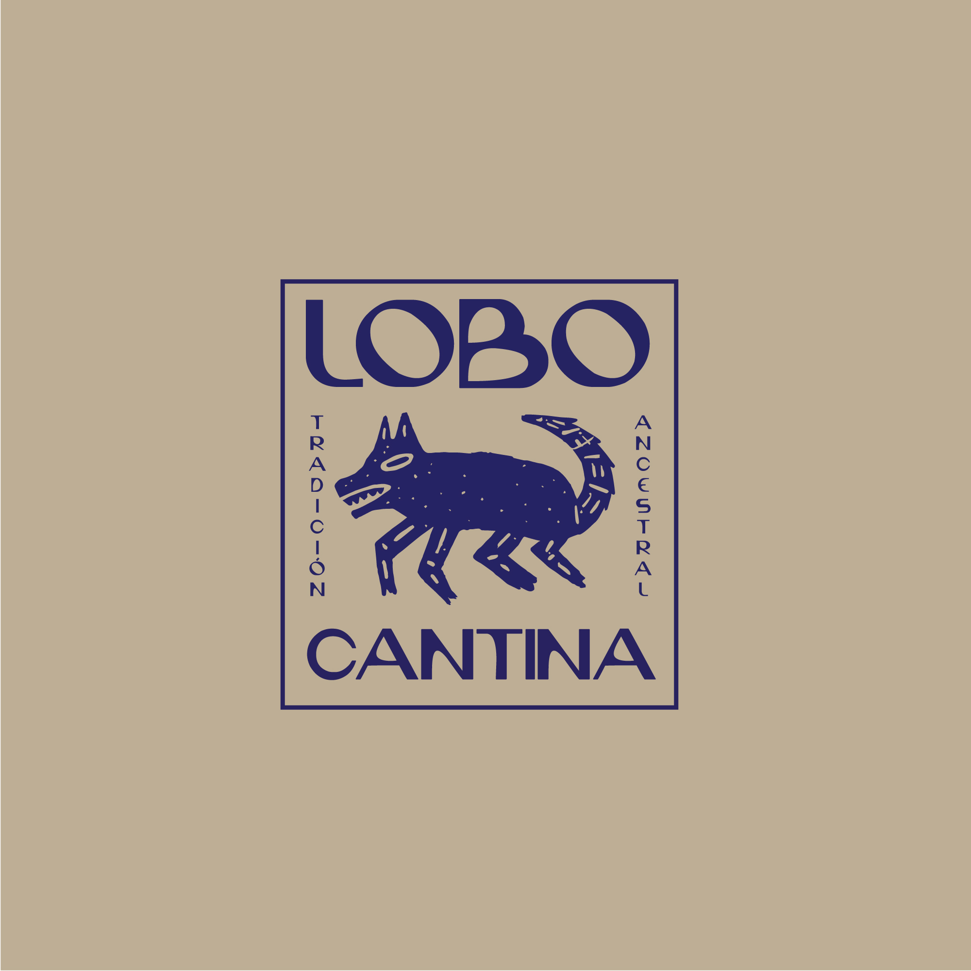 Design and Illustration for Lobo Cantina Traditional Mexican Grill