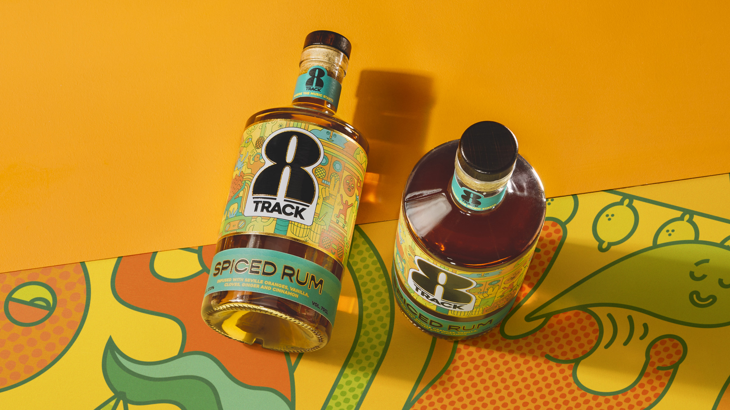 8Track Rum Brand Communication and Packaging Design by Kingdom & Sparrow