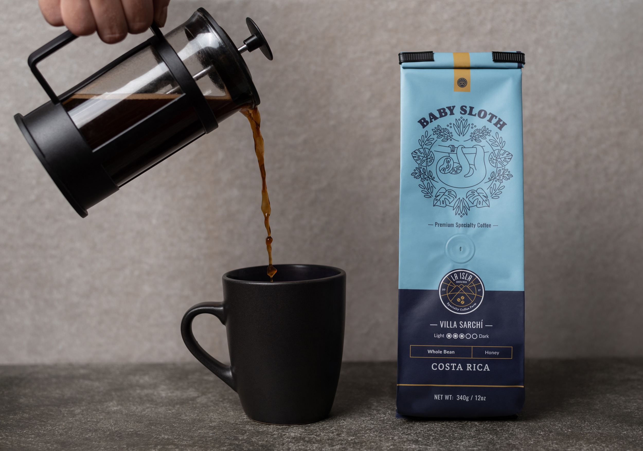 Packaging Design for Baby Sloth Coffee Brand Created by Design Etiquette
