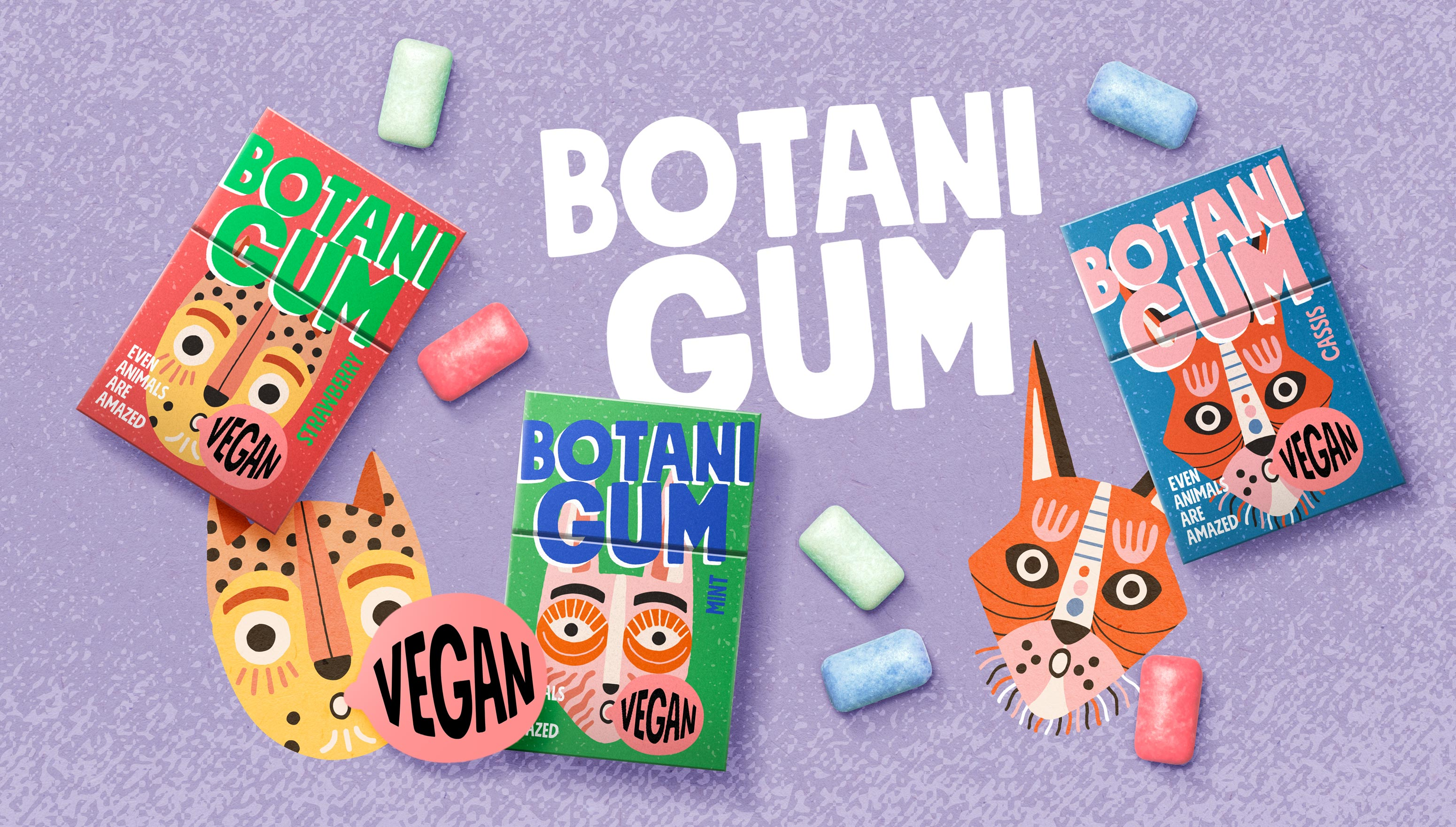 Win Creating Images Created Botani Gum Brand and Packaging Design