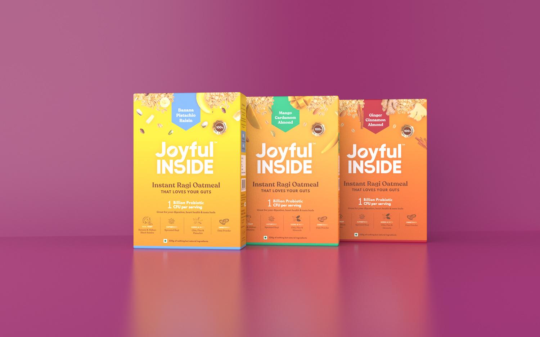 Lucid Design Create Packaging Design for Joyful Inside Probiotic Food Brand