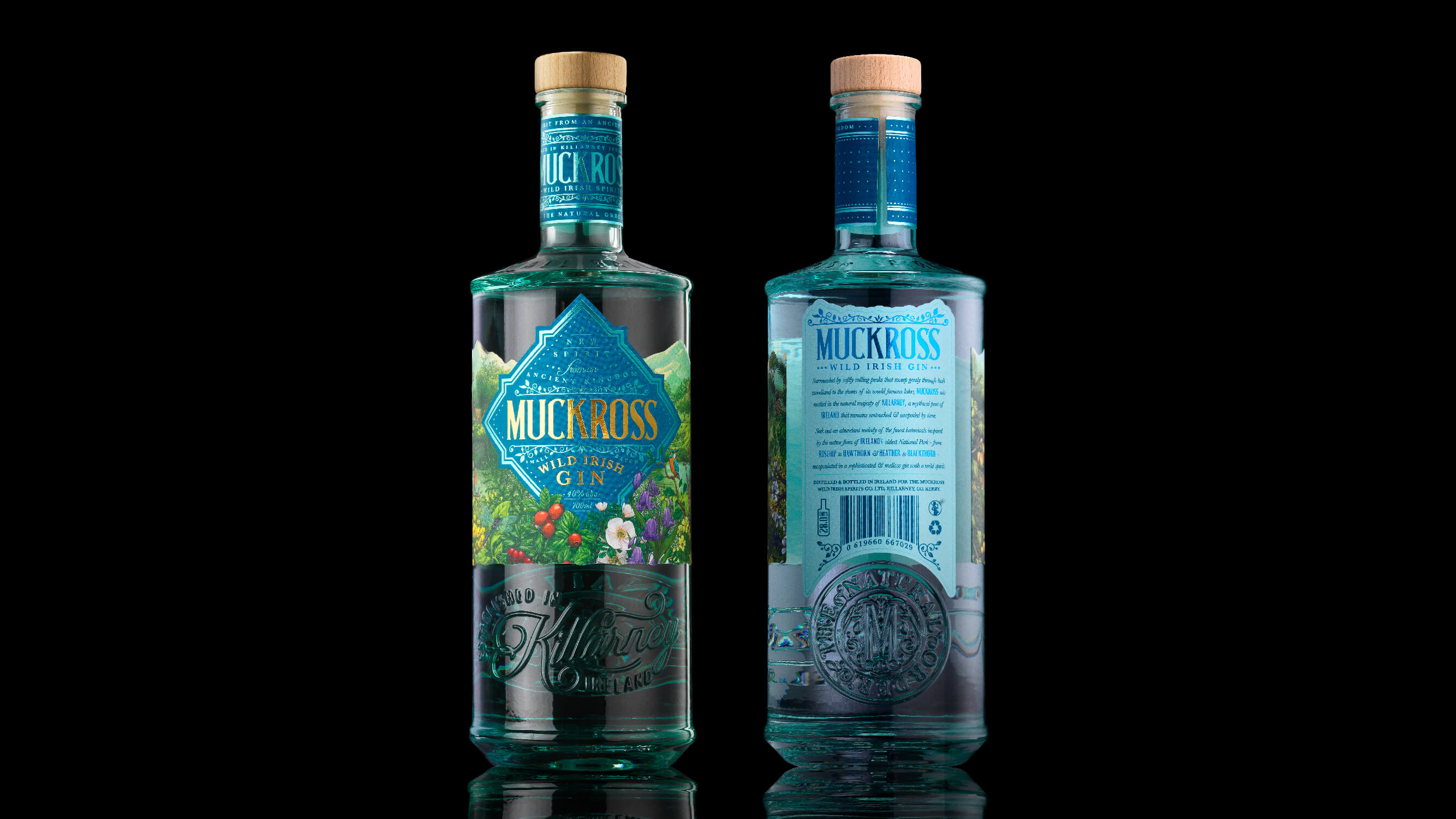 Backbar Studios Creates Distinctive New Packaging for Muckross Wild Irish Gin