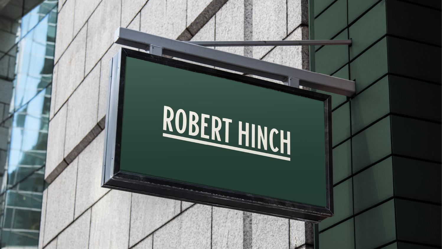 Robert Hinch Barber Shop Branding by Stamp Works