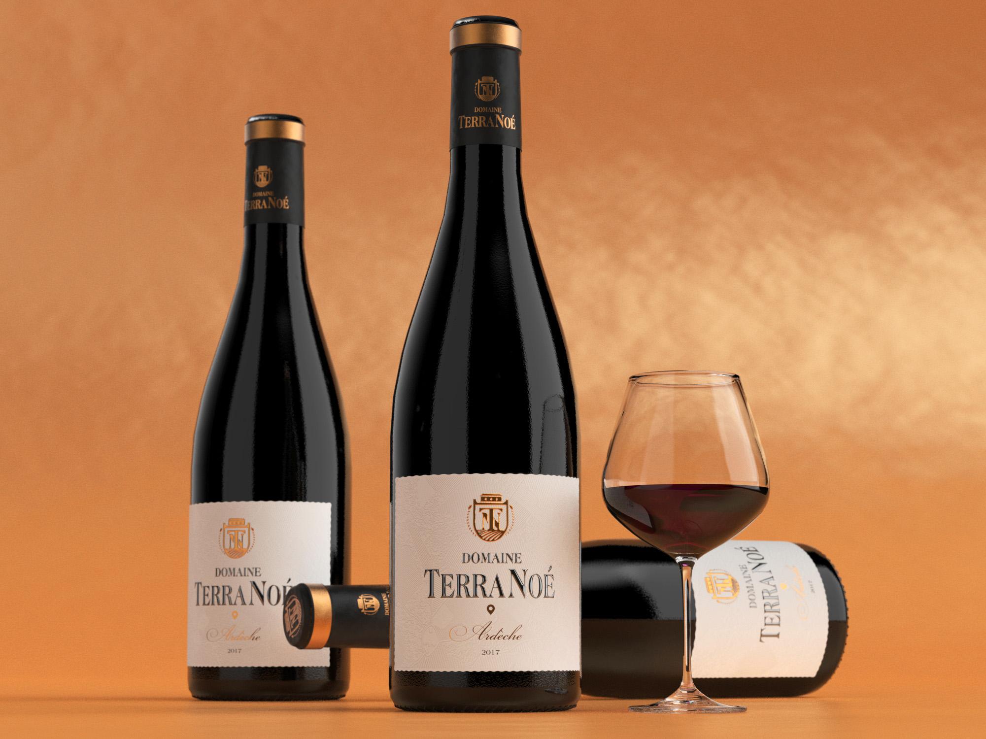 Terra Noé is a South French Wine Designed by Rémy Boiré