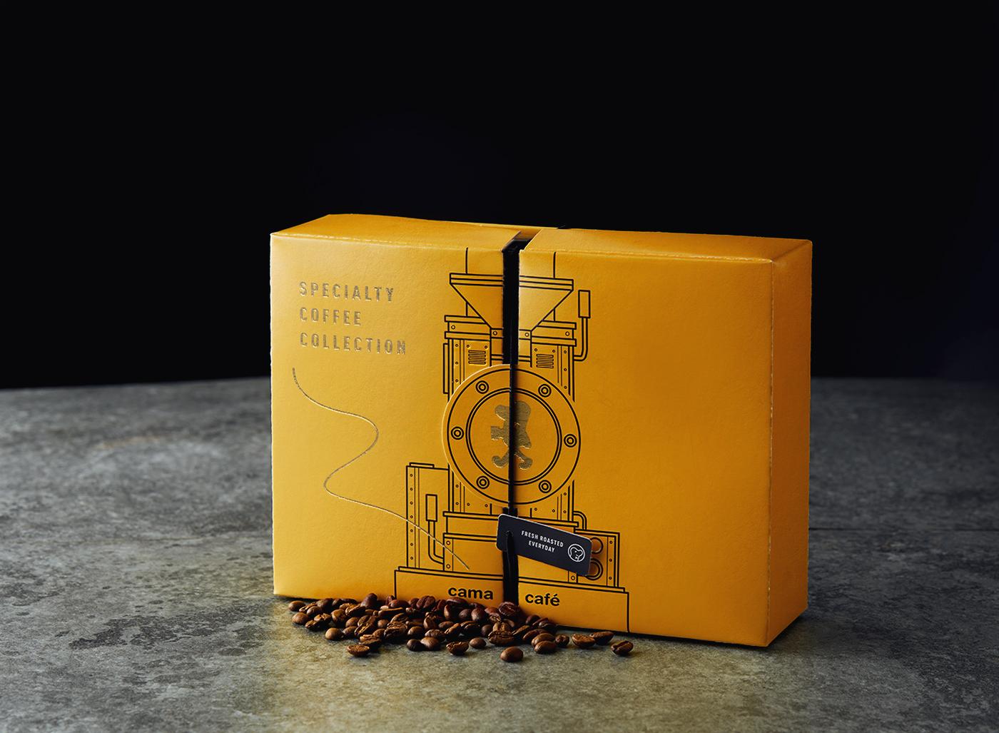 Cama Café Specialty Coffee Collection Packaging Design