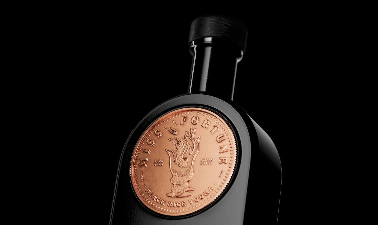 Studio Unbound Reveal Concept for 'Miss Fortune' a Small Batch Black Rice Vodka